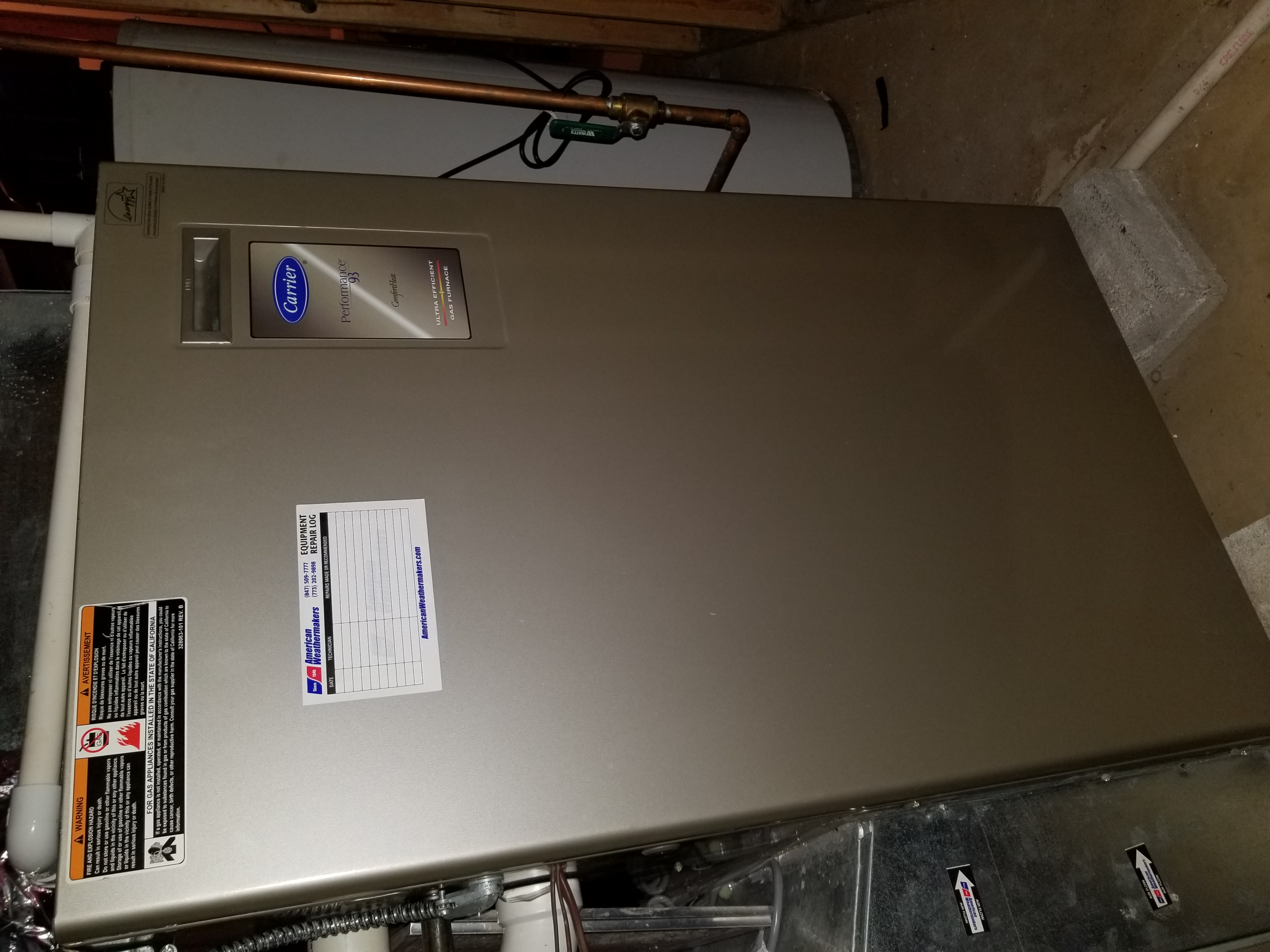 Performed annual maintenance on the Carrier furnace and Aprilaire humidifier and made adjustments to improve the overall efficiency and life expectancy of the equipment