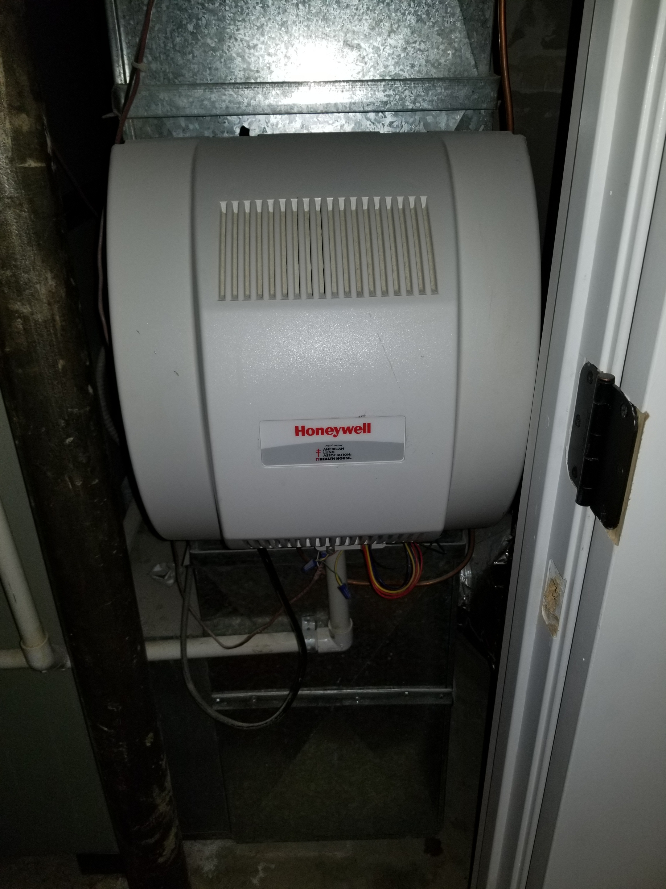 Repaired the Honeywell humidifier