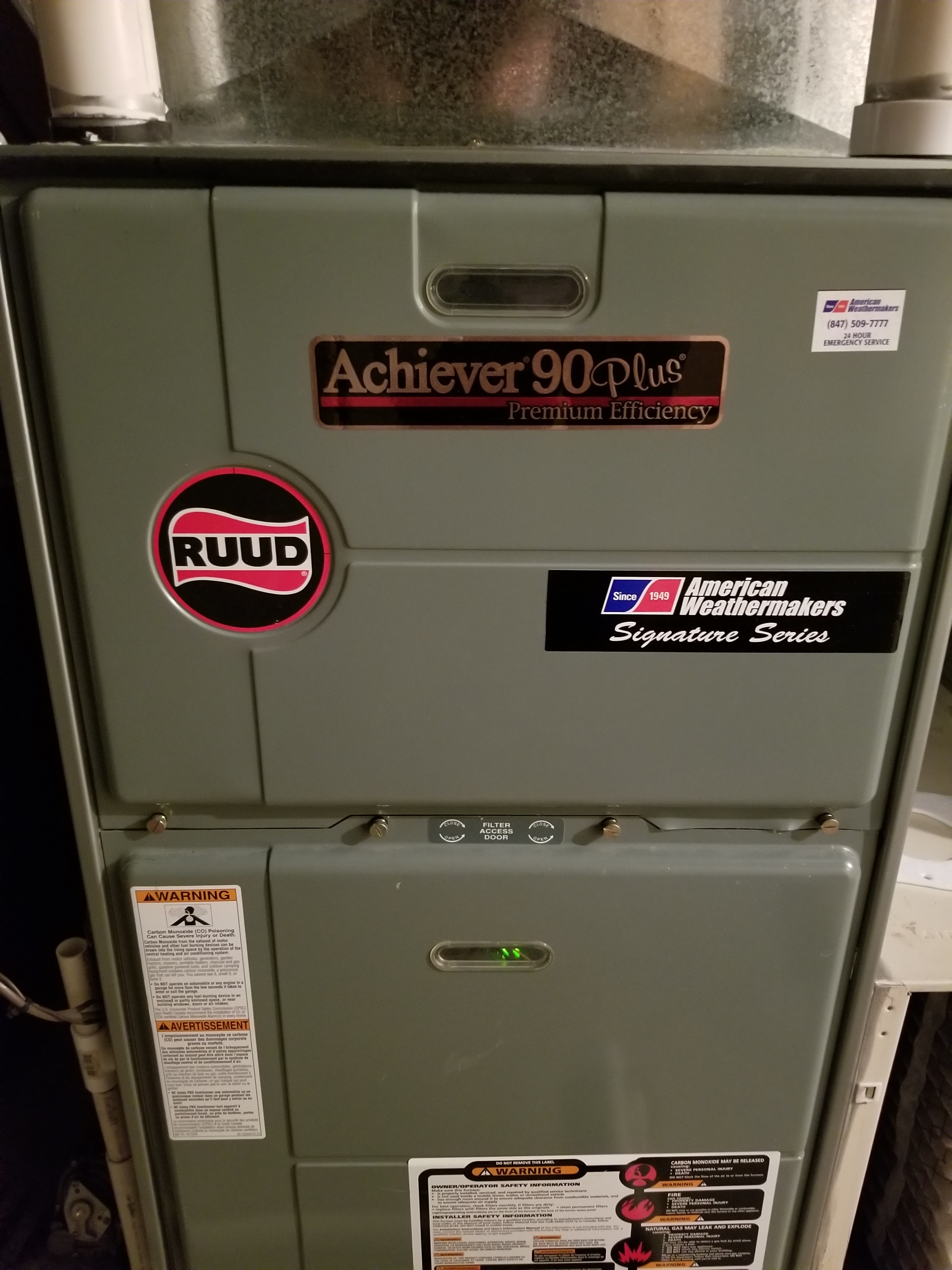 Performed annual maintenance on the Ruud furnace and Aprilaire humidifier and made adjustments to improve the overall efficiency and life expectancy of the equipment