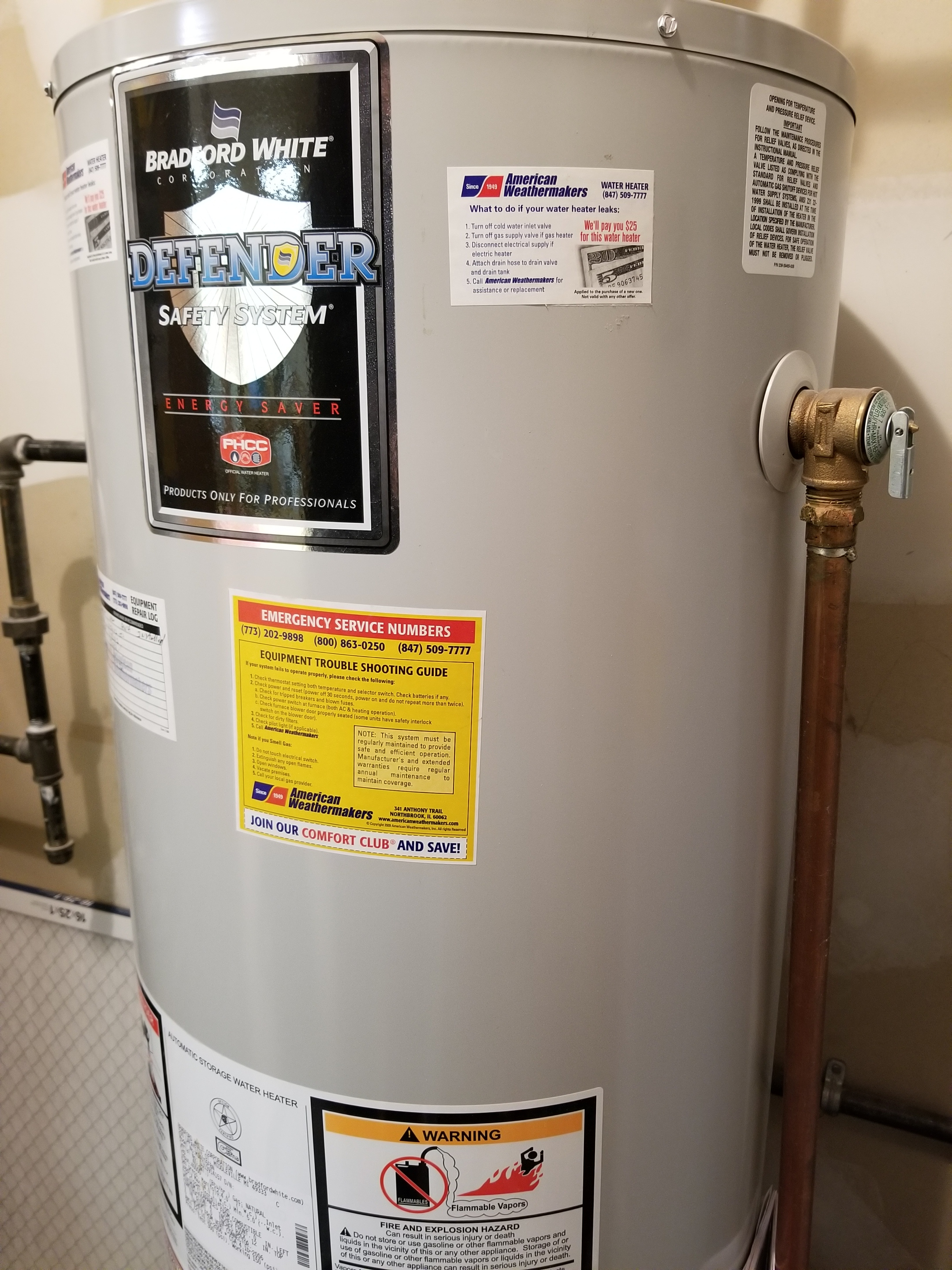 Performed annual maintenance on the Rheem furnace and BRADFORD WHITE  water heater. Made adjustments to improve the overall efficiency and life expectancy of the equipment.
