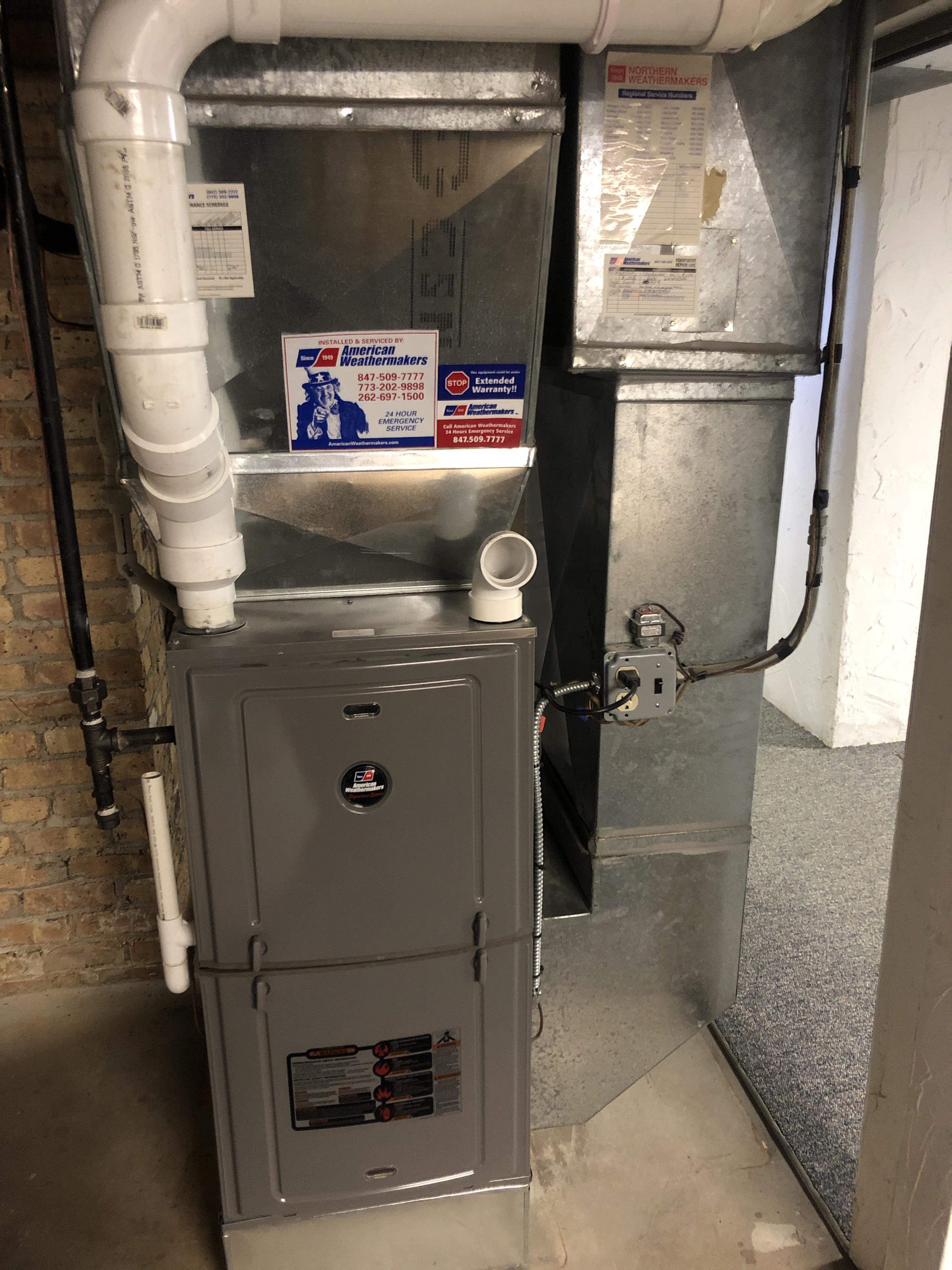 Provided club customer with annual preventative maintenance on furnace and humidifier. Caught a flame sensor issue before it became a bigger issue and replaced the thermostat for the customer. Also took measures to ensure the equipment has a lasting life expectancy