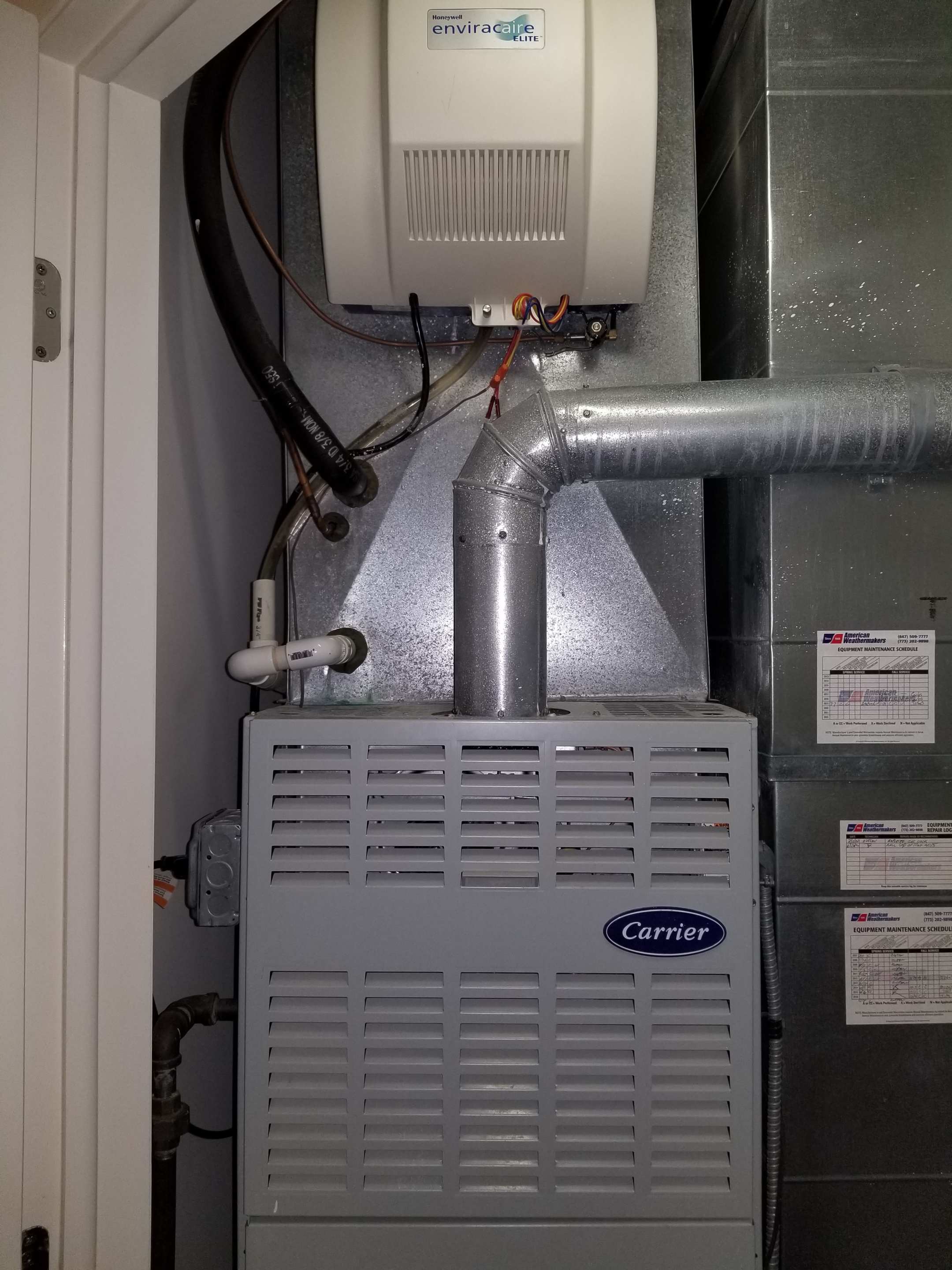 Performed annual maintenance on the Carrier furnace and Honeywell humidifier and made adjustments to improve the overall efficiency and life expectancy of the equipment