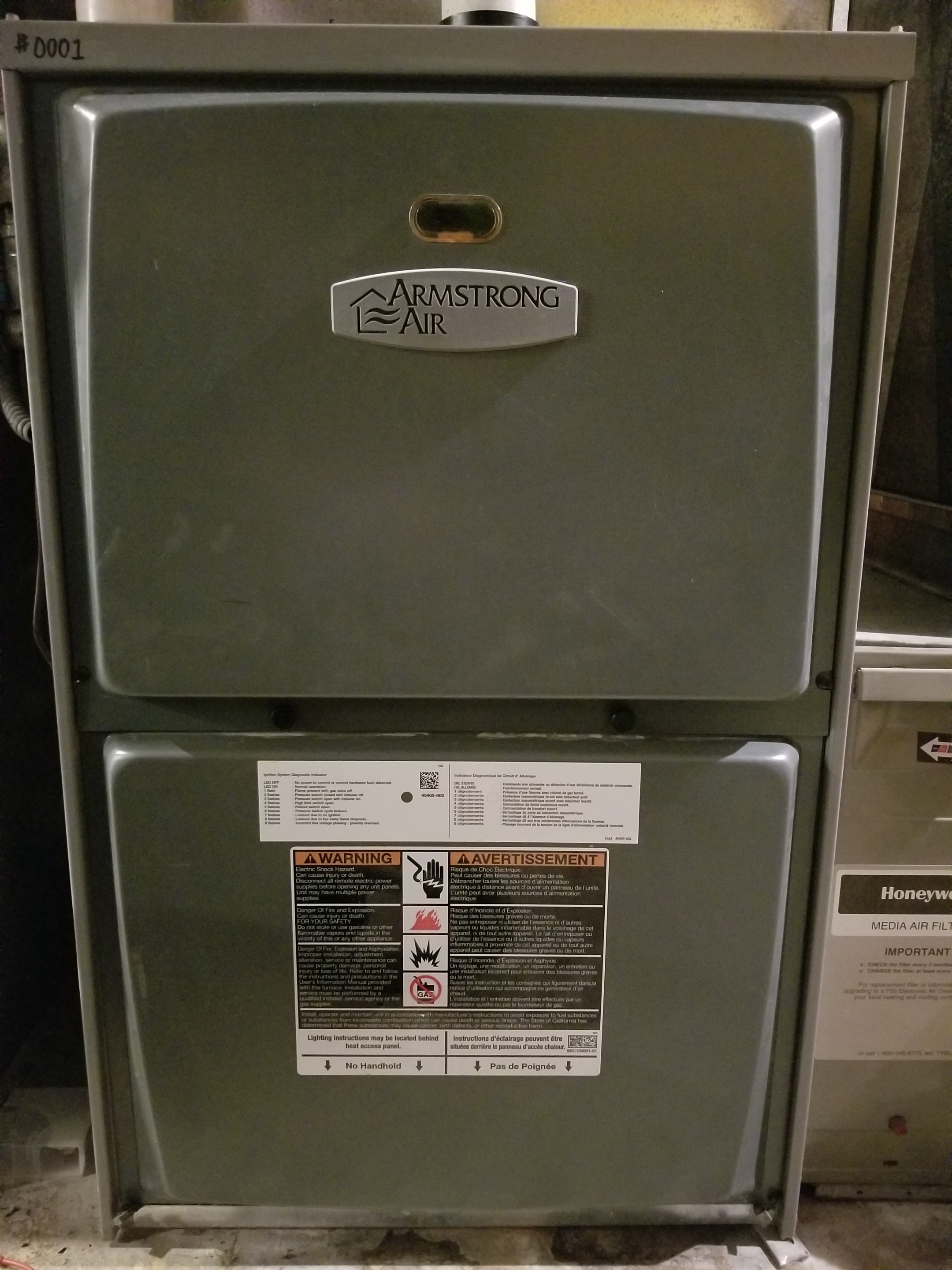 Performed annual maintenance on the Armstrong Air, Trane & American Standard furnaces also on the Aprilaire humidifiers and Honeywell air cleaners. Made adjustments to improve the overall efficiency and life expectancy of the equipment.