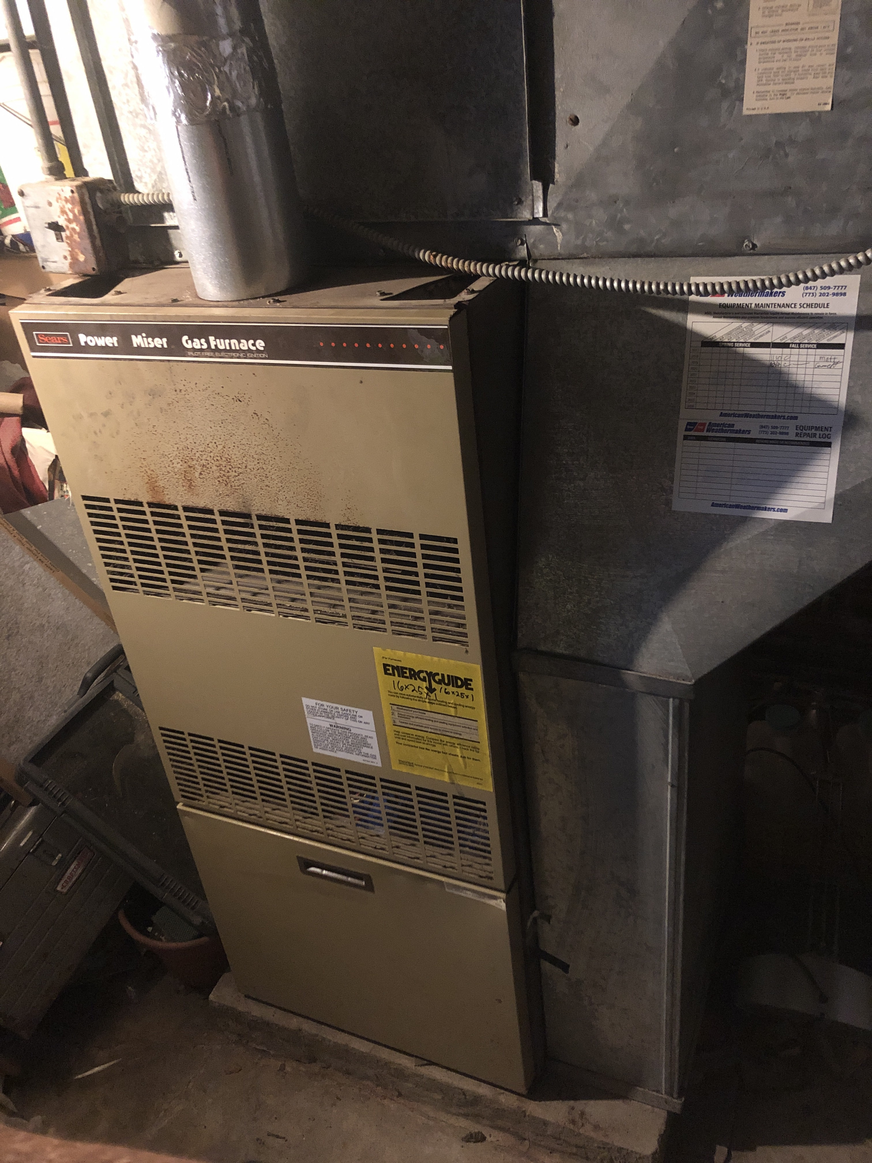 Provided club customer with annual preventative maintenance on sears furnace and took measures to ensure the equipment had a lasting life expectancy