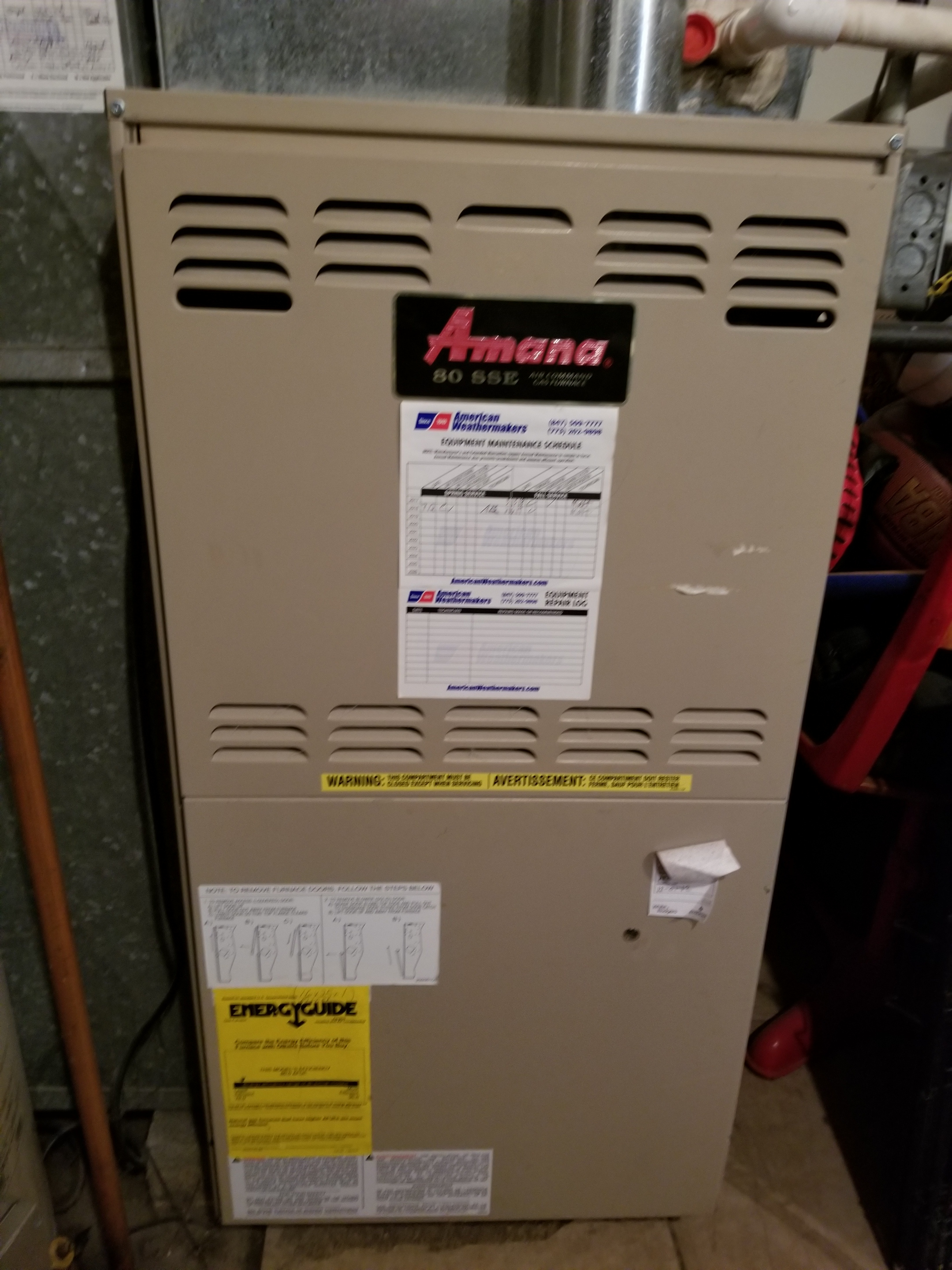 Performed annual maintenance on the Amana furnace and made adjustments to improve the overall efficiency and life expectancy of the equipment