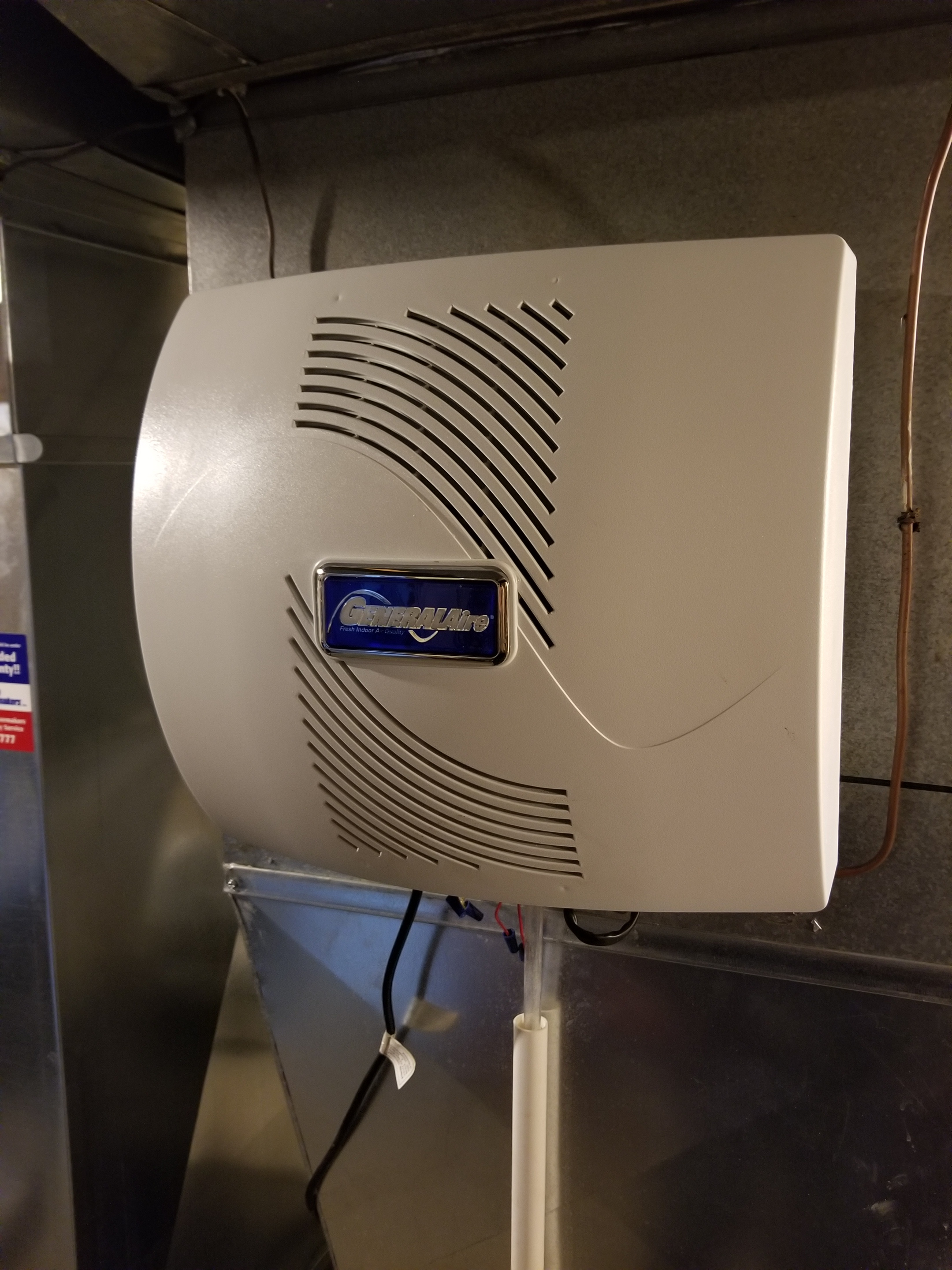 Repaired the GeneralAire humidifier