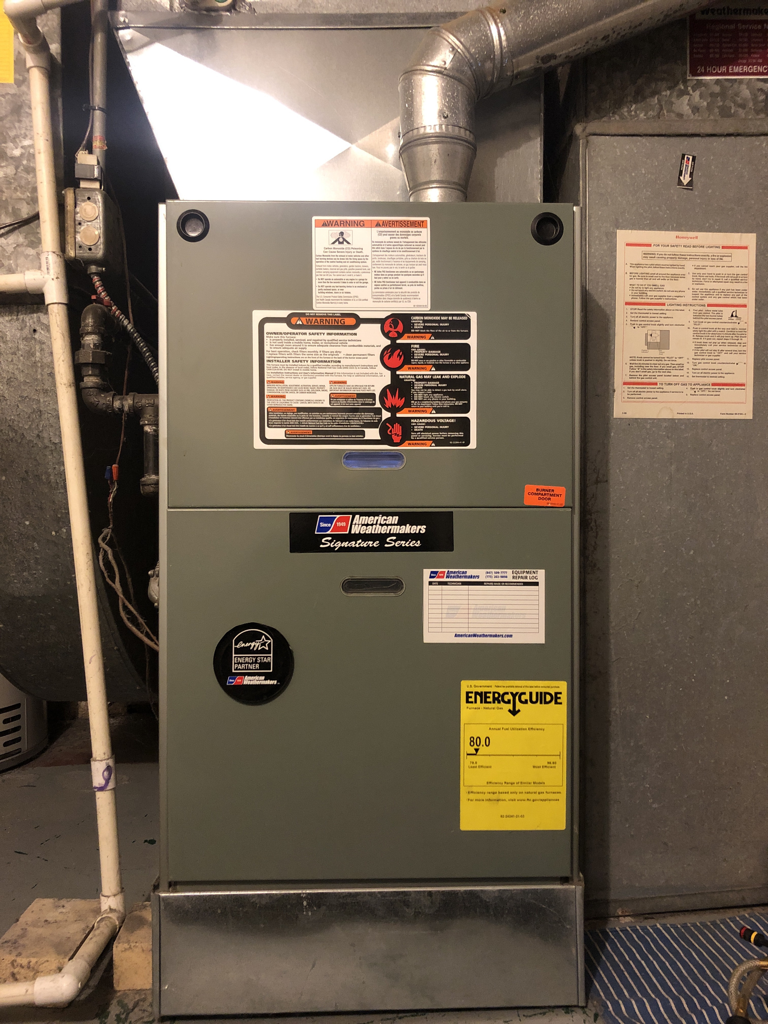 Provided club customer with annual preventative maintenance on furnace and humidifier and took measures to ensure that the equipment has a lasting life expectancy