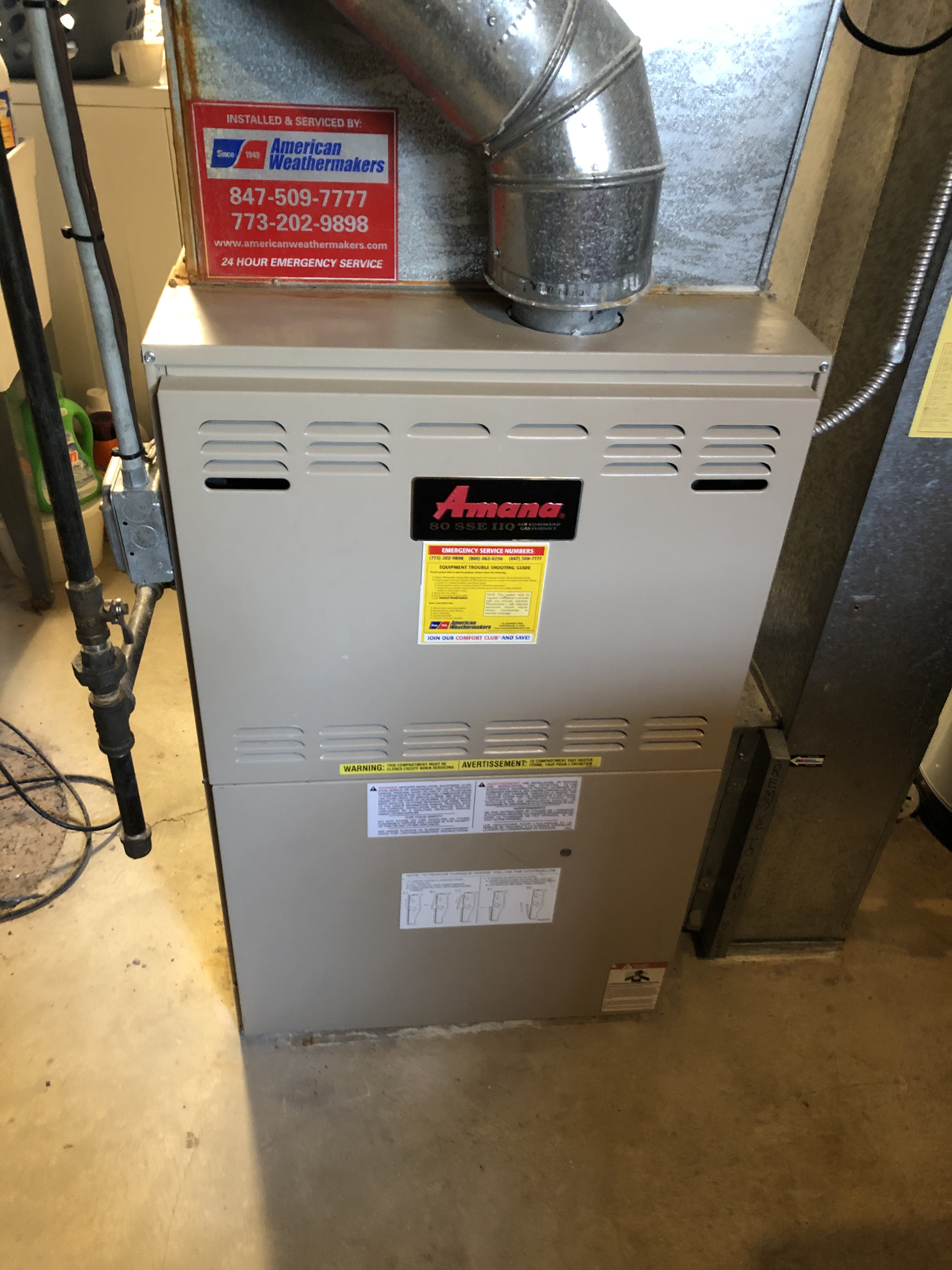 Make sure your Amana furnace is operating properly this winter. Call American Weathermakers today.