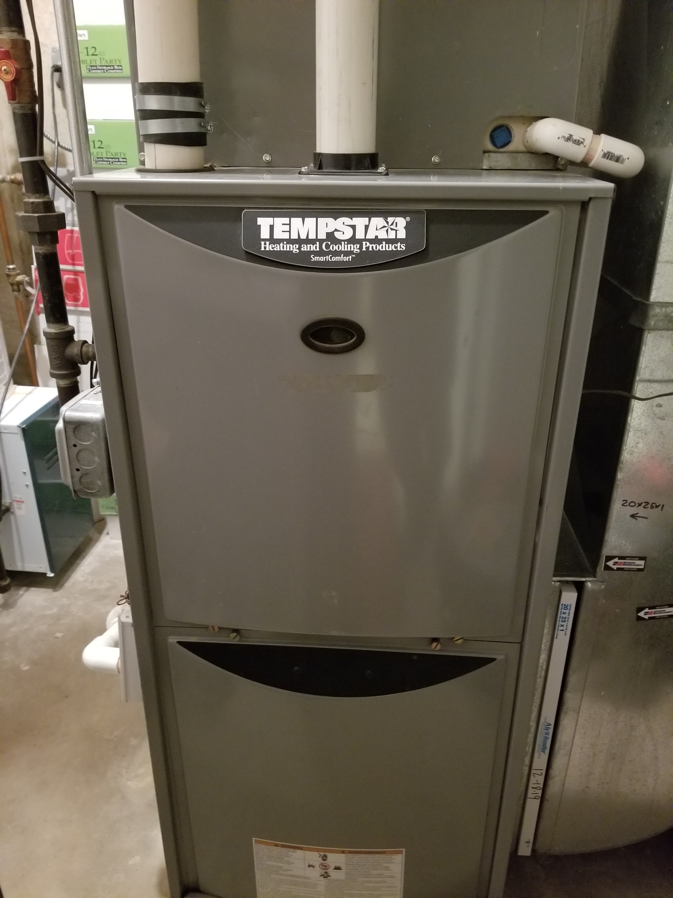 Performed annual maintenance on the Tempstar furnace and Aprilaire humidifier and made adjustments to improve the overall efficiency and life expectancy of the equipment