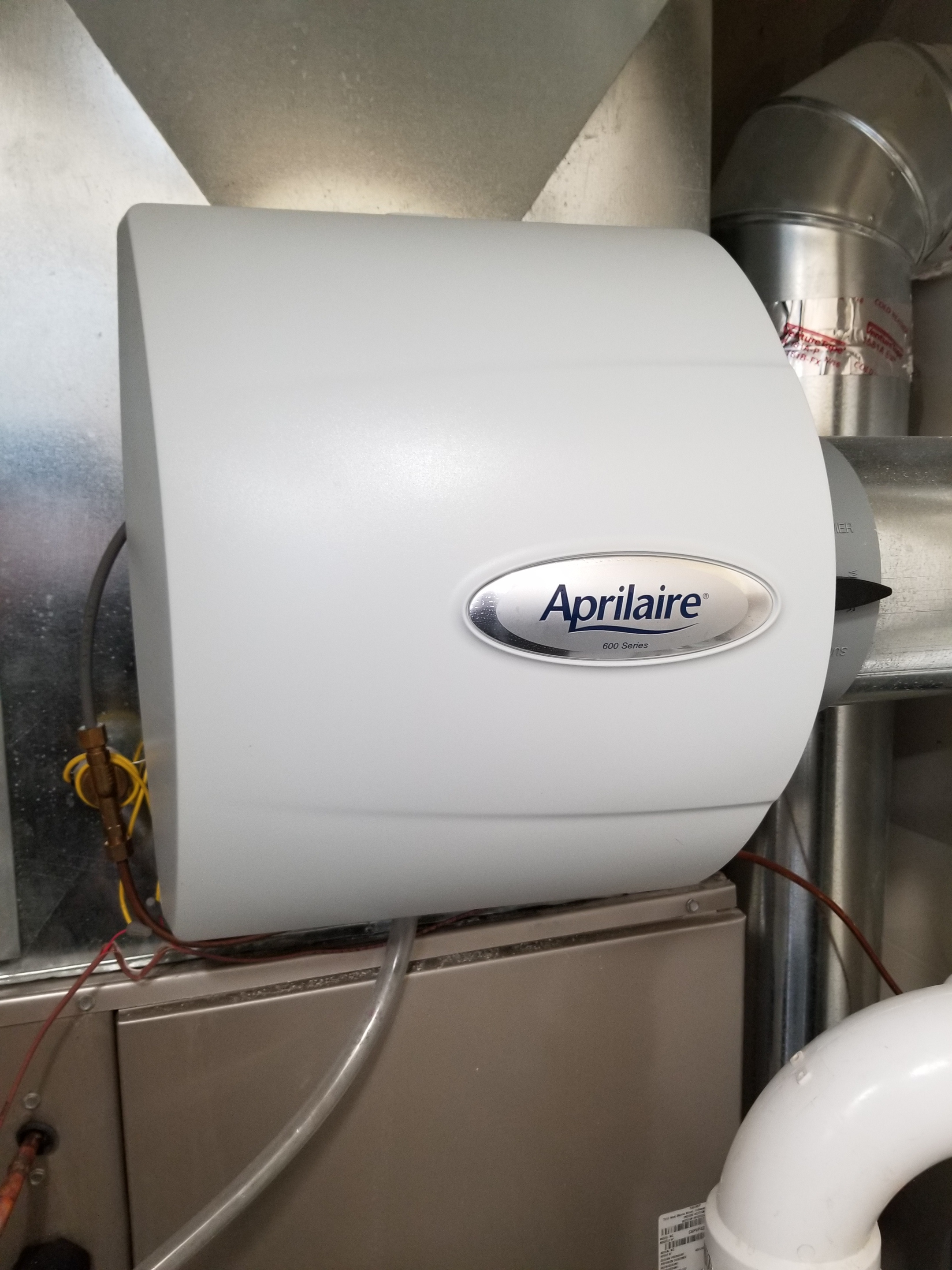 Repaired the Aprilaire humidifier and Carrier furnace and made adjustments to improve the overall efficiency and life expectancy of the equipment