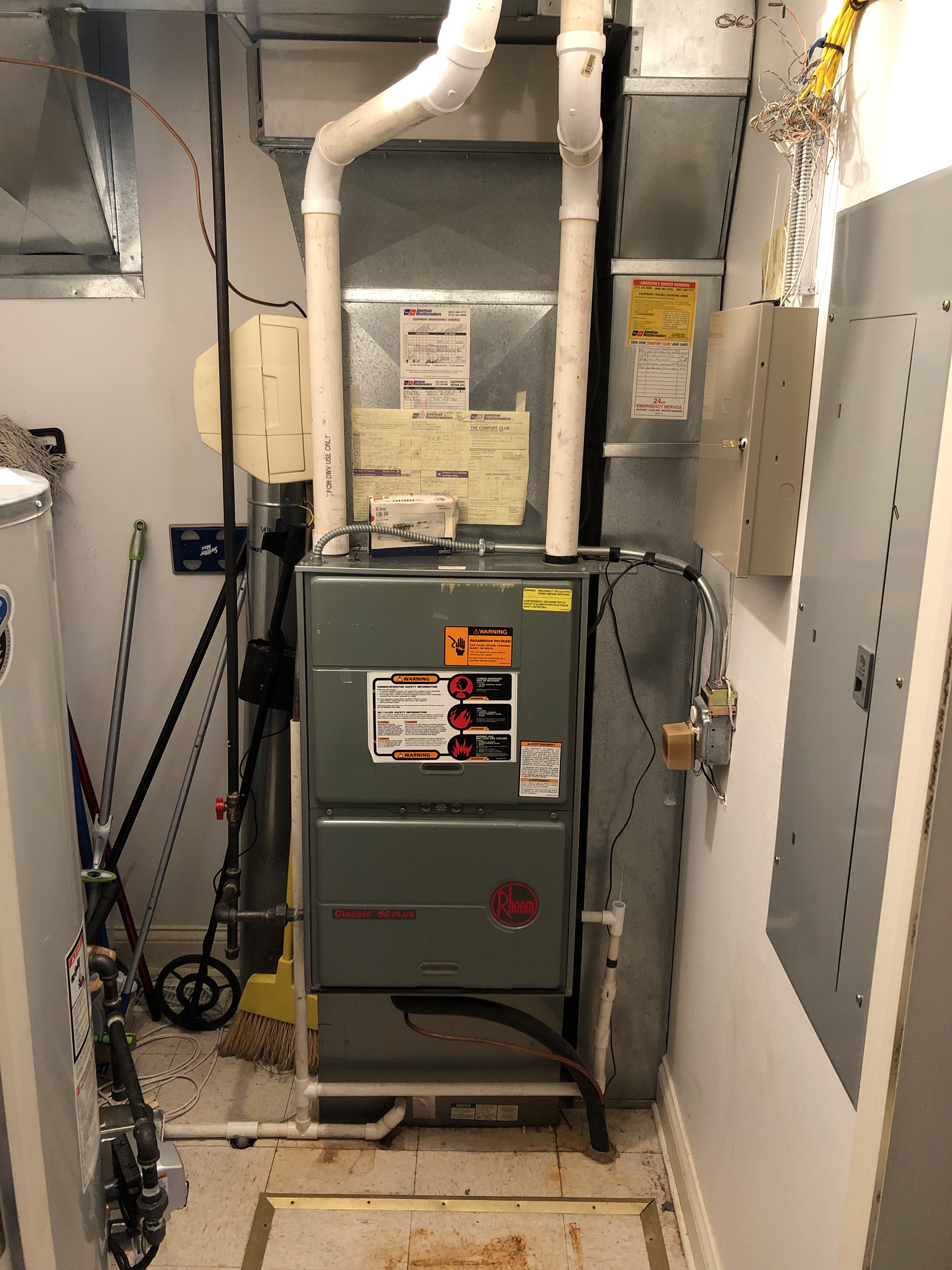 Provided club customer with annual preventative maintenance on 2 furnaces and 2 humidifiers and took measures to ensure the life expectancy of the equipment