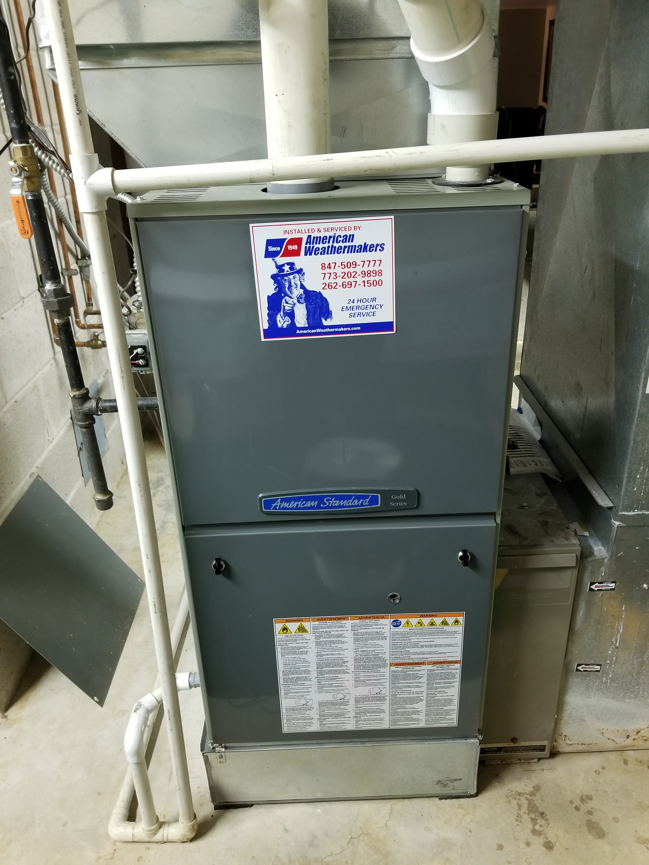 Performed annual maintenance on the American Standard furnace and Aprilaire humidifier and made adjustments to improve the overall efficiency and life expectancy of the equipment