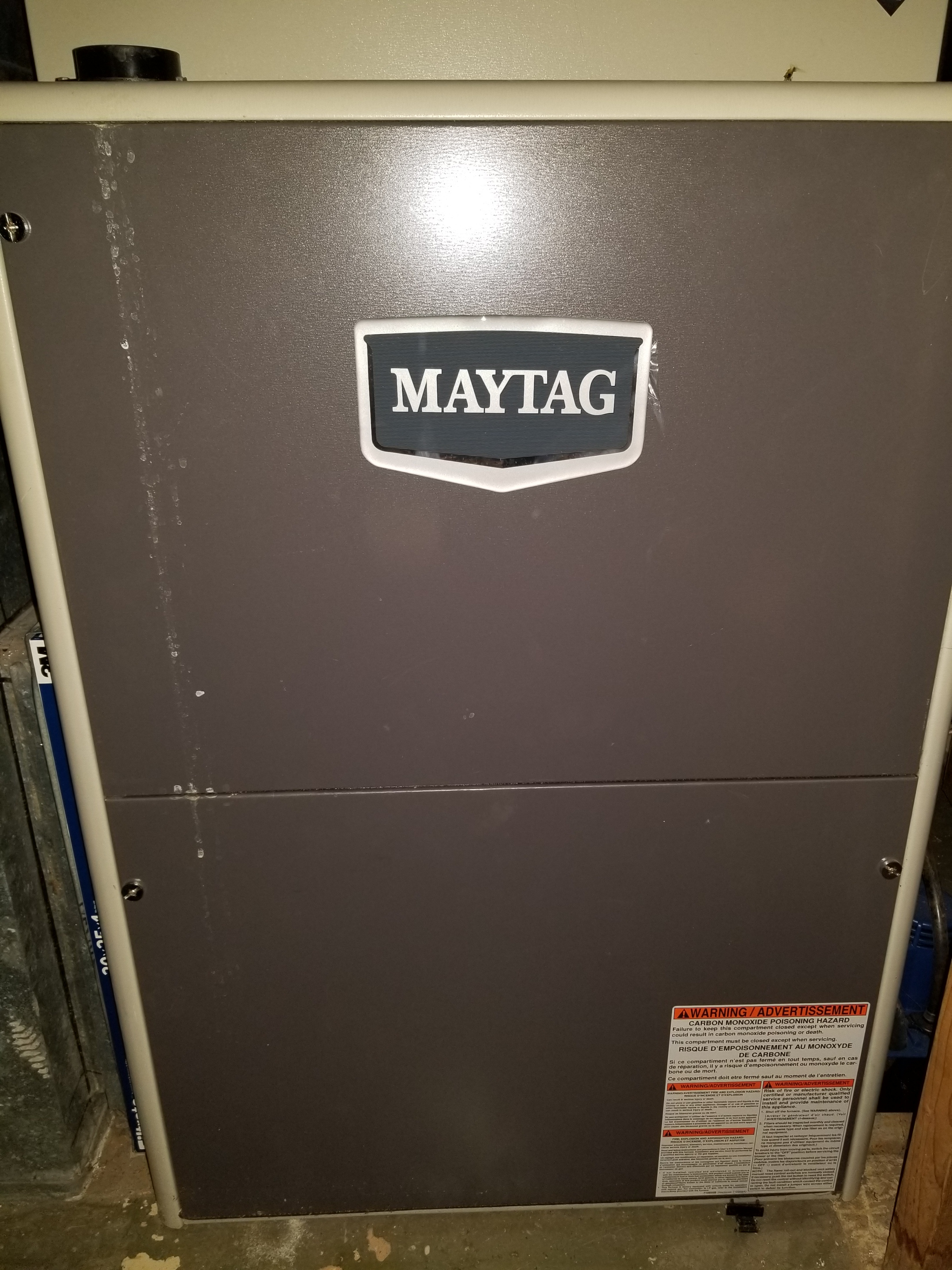 Repaired the Maytag furnace and made adjustments to improve the overall efficiency and life expectancy of the equipment