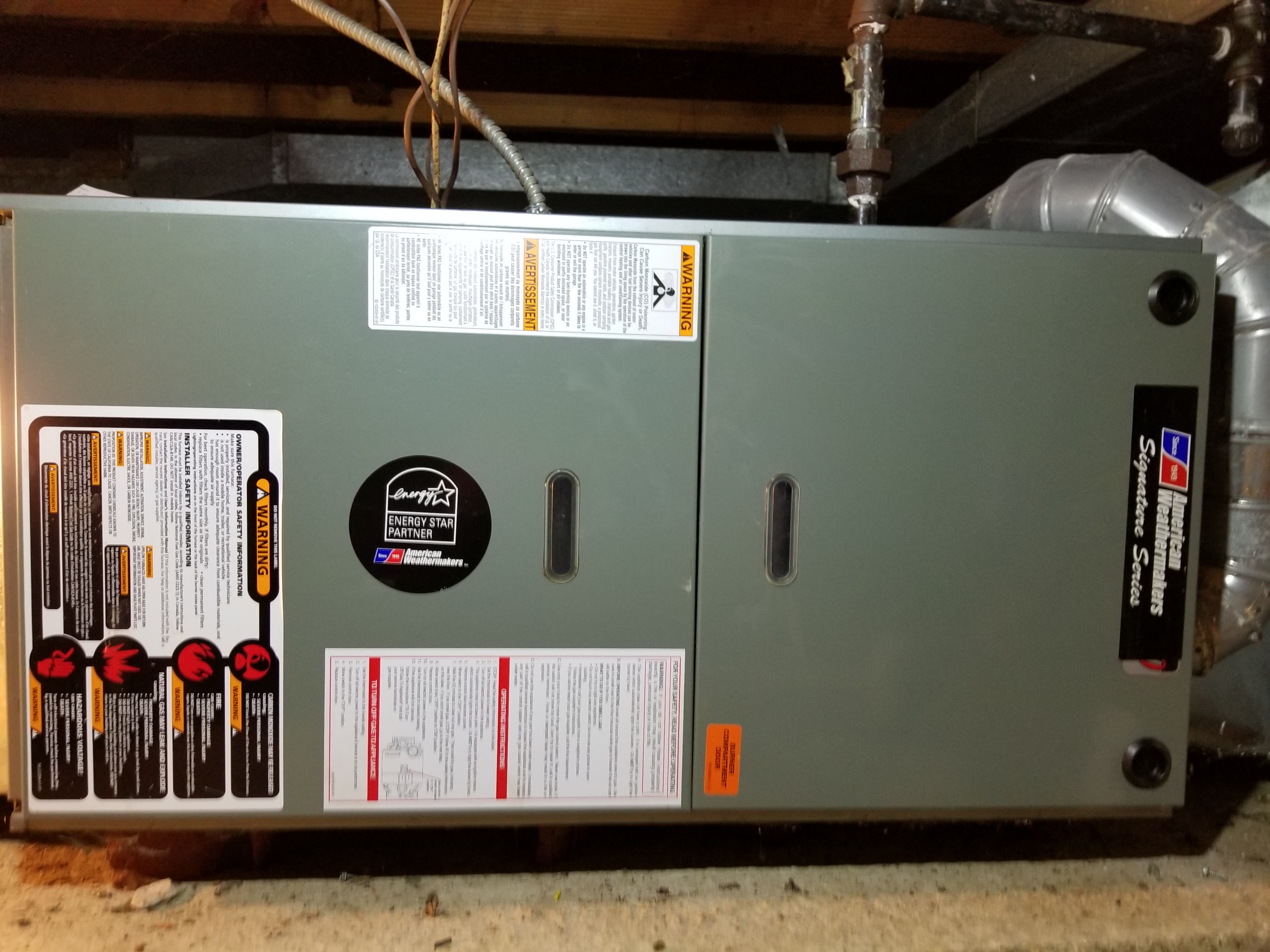 Repaired Rheem furnace and made adjustments to improve the overall efficiency and life expectancy of the equipment