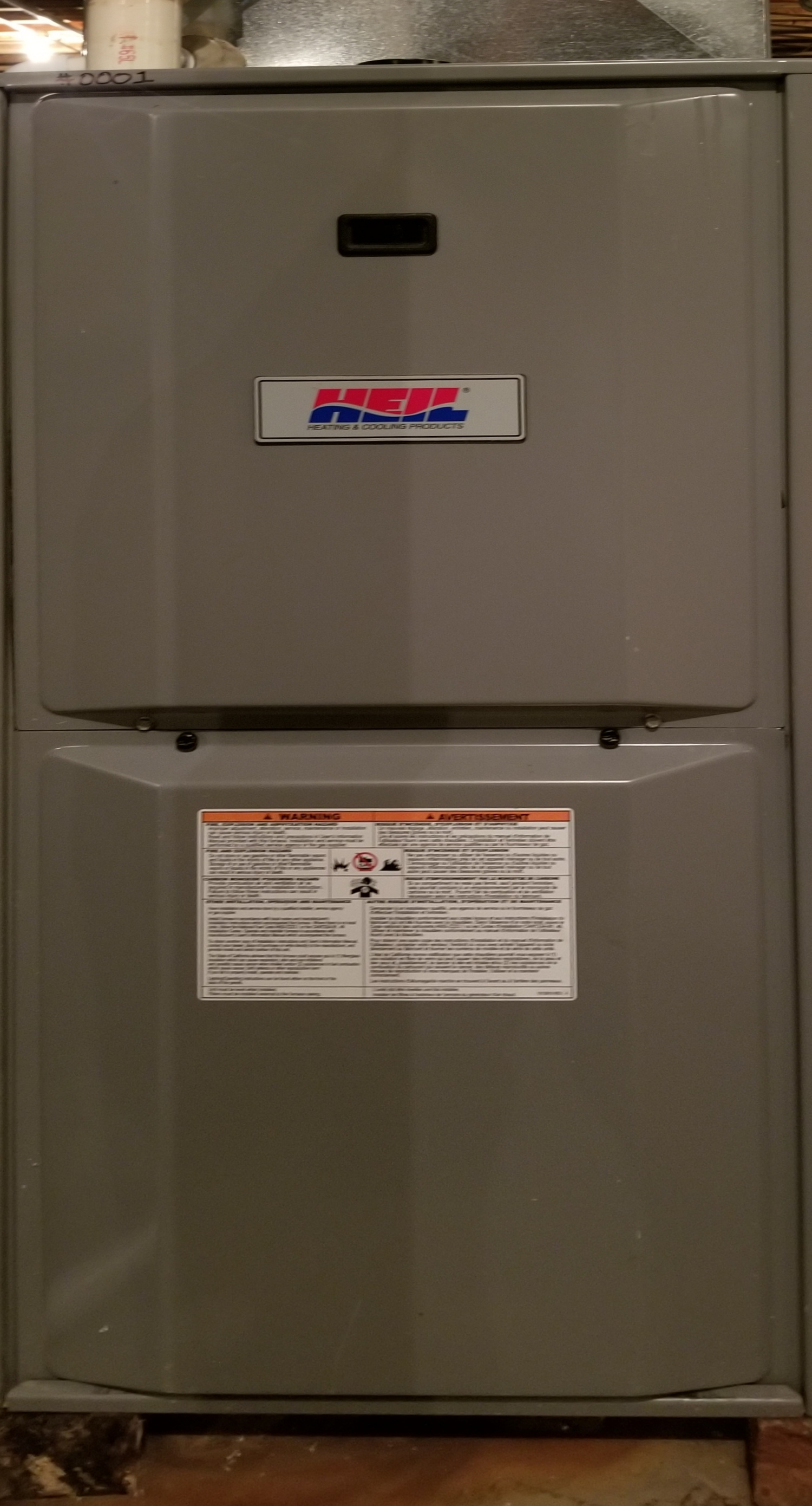 Repaired the Heil furnace and Aprilaire humidifier and made adjustments to improve the overall efficiency and life expectancy of the equipment