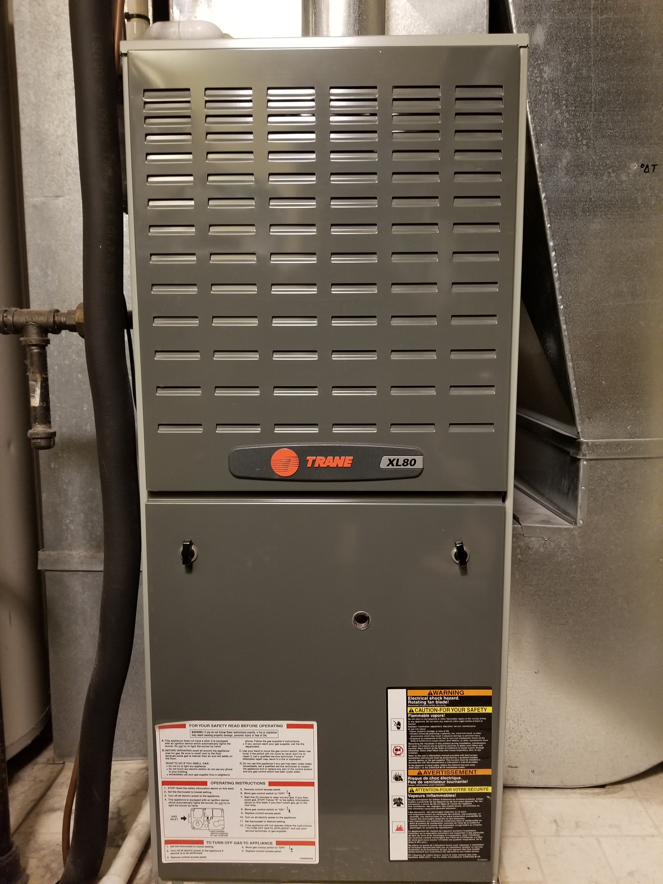 Performed annual maintenance on the Trane furnace and made adjustments to improve the overall efficiency and life expectancy of the equipment