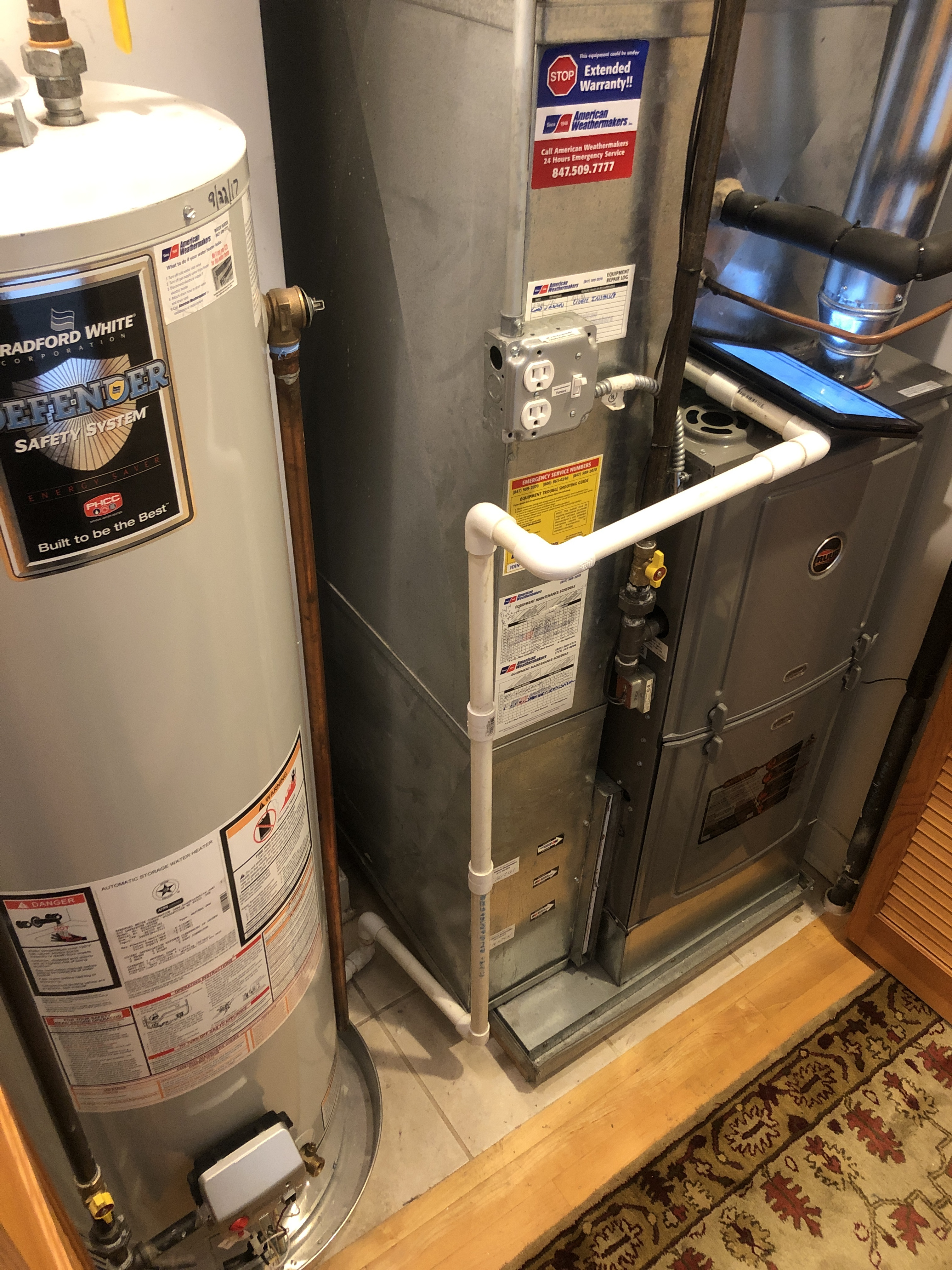Provided club customer with annual preventative maintenance on furnace and hot water heater and took measures to ensure the life expectancy of the equipment