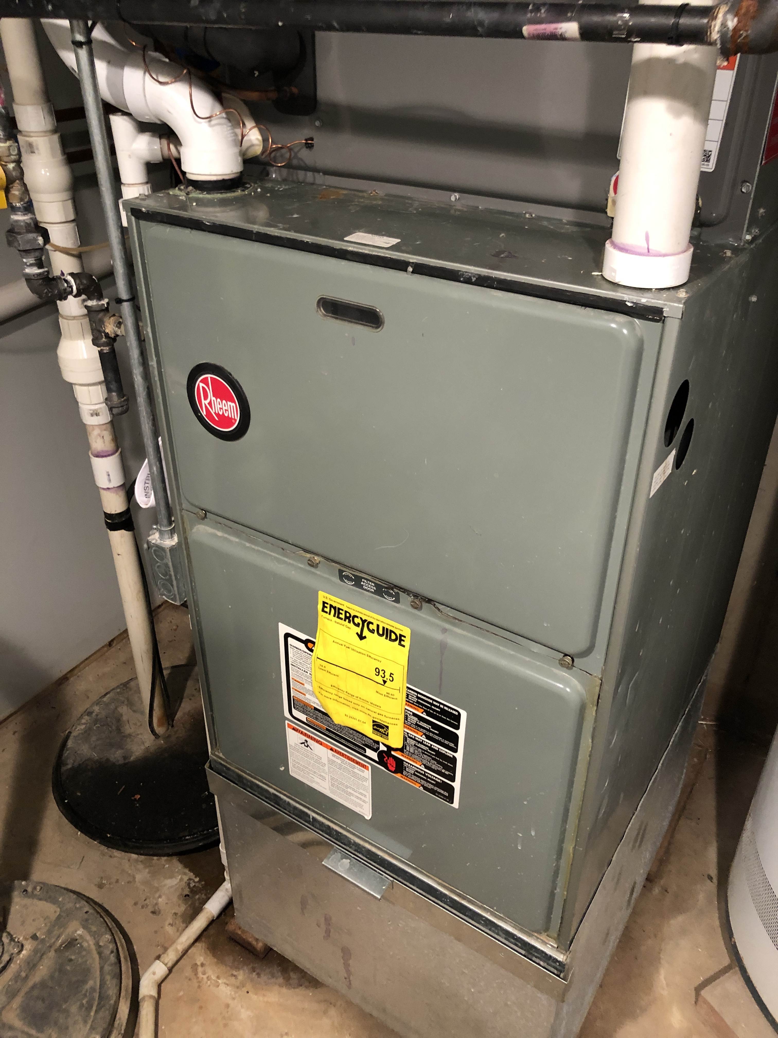 Provided club customer with annual preventative maintenance on 2 Rheem furnaces and took measures to ensure the life expectancy of the equipment.