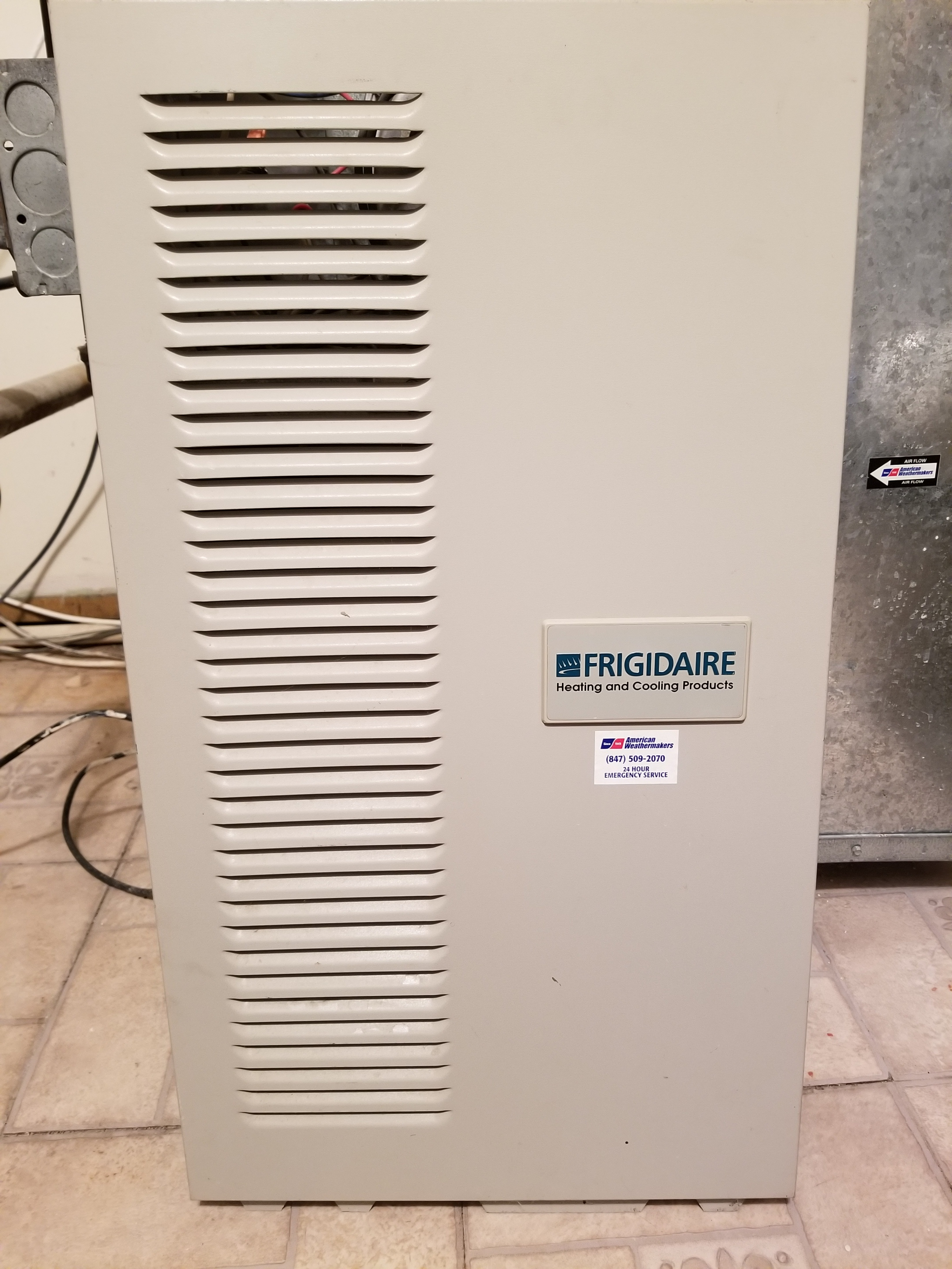 Repaired the Frigidaire furnace and made adjustments to improve the overall efficiency and life expectancy of the equipment