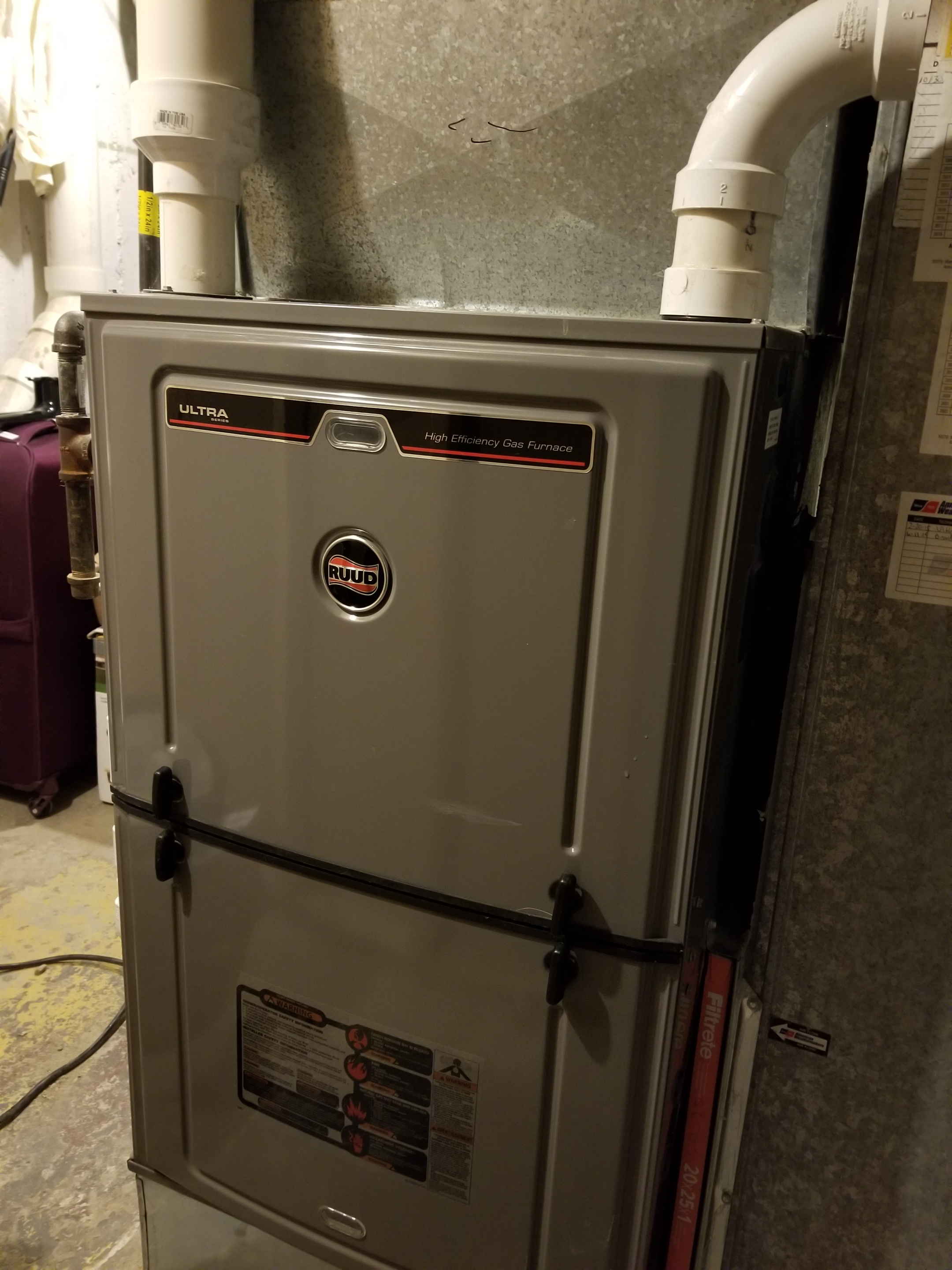 Performed annual maintenance on the Ruud furnace, General Air humidifier and made adjustments to improve the overall efficiency and life expectancy of the equipment.