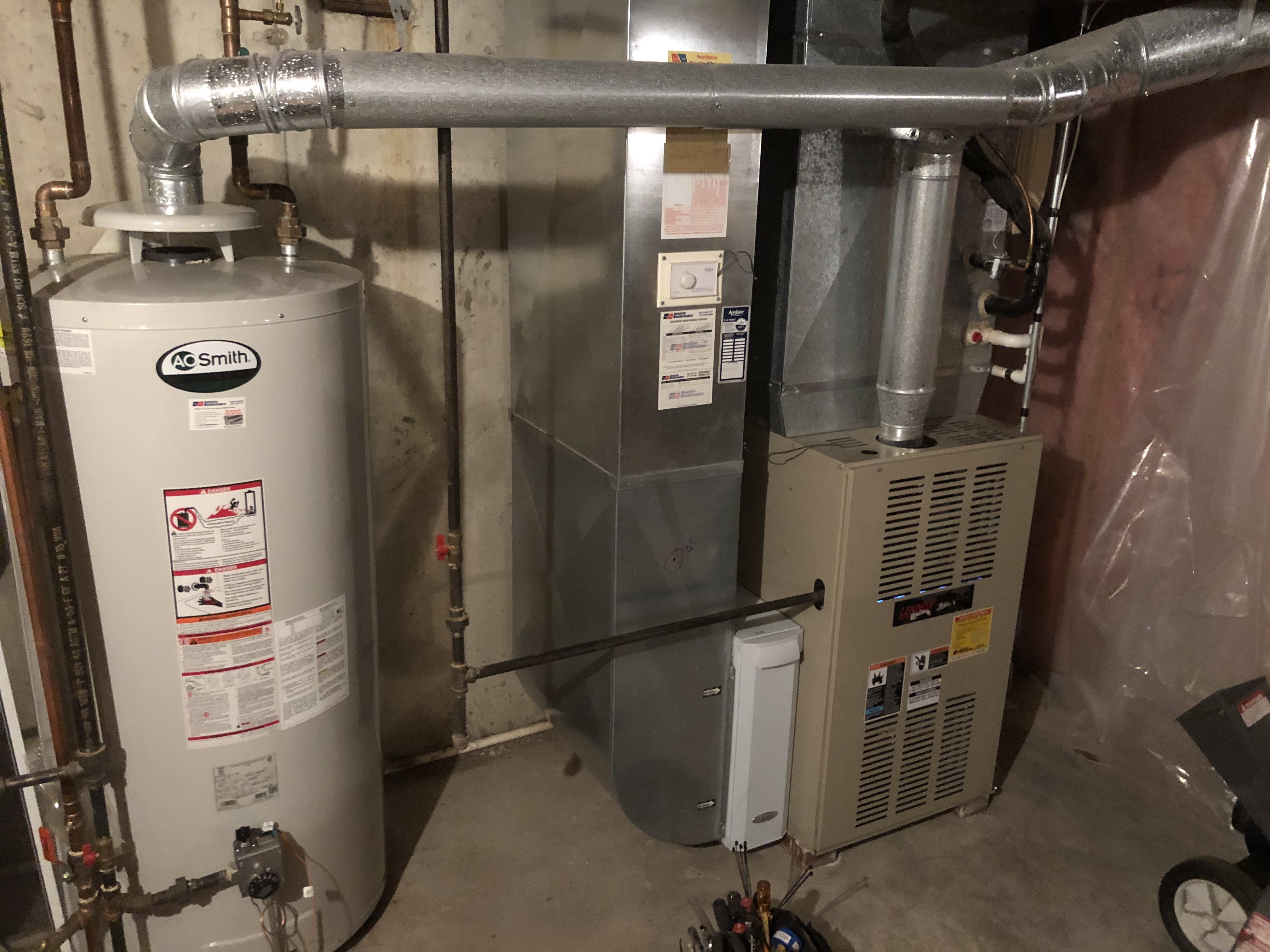 Provided club customer with annual preventative maintenance on 2 furnaces and 2 humidifier as well as there hot water heater and air filters and took measures to ensure the life expectancy of the equipment.