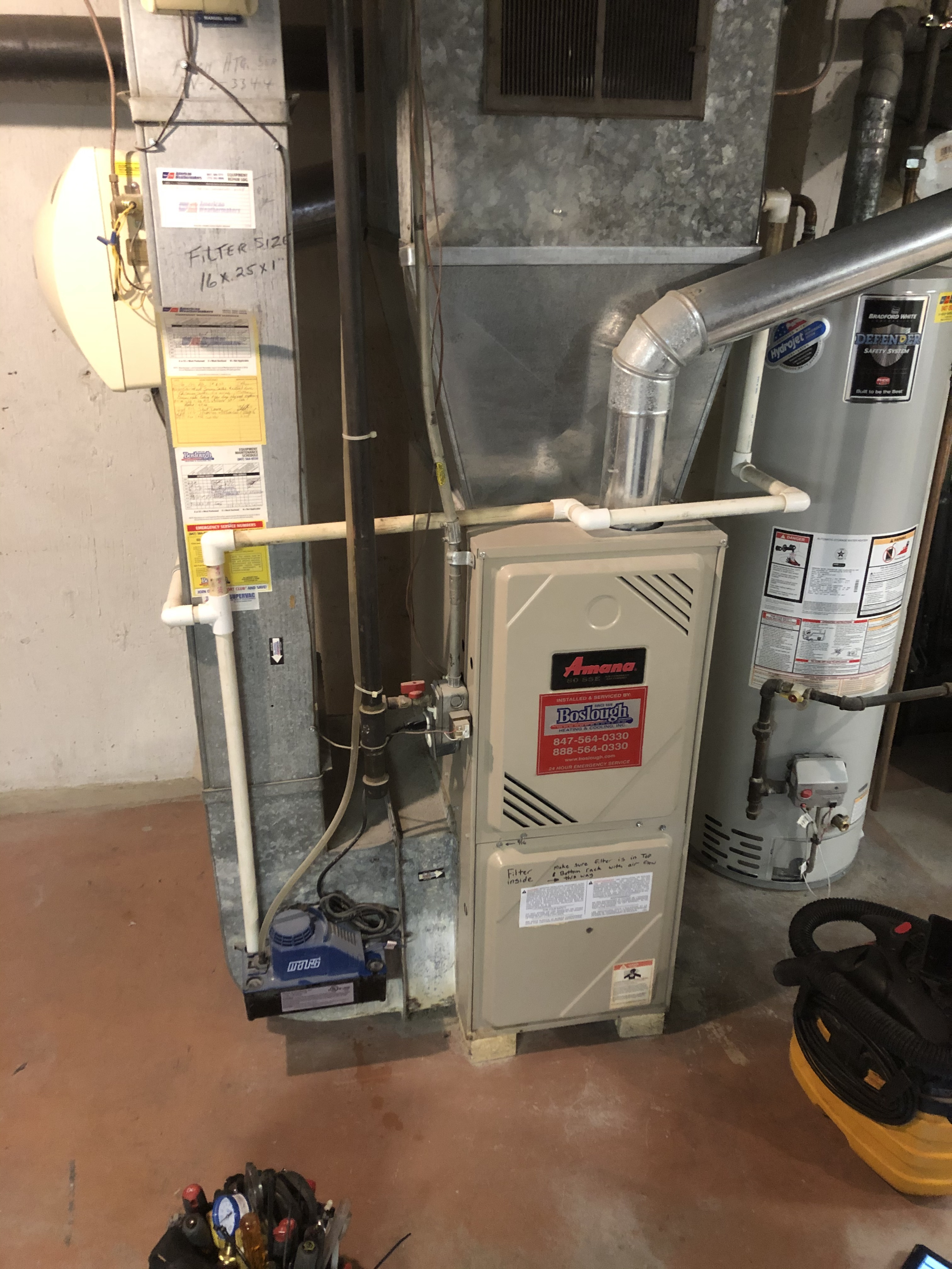 Provided club customer with annual preventative maintenance on both furnace and humidifier and took measures to ensure the life expectancy of the equipment