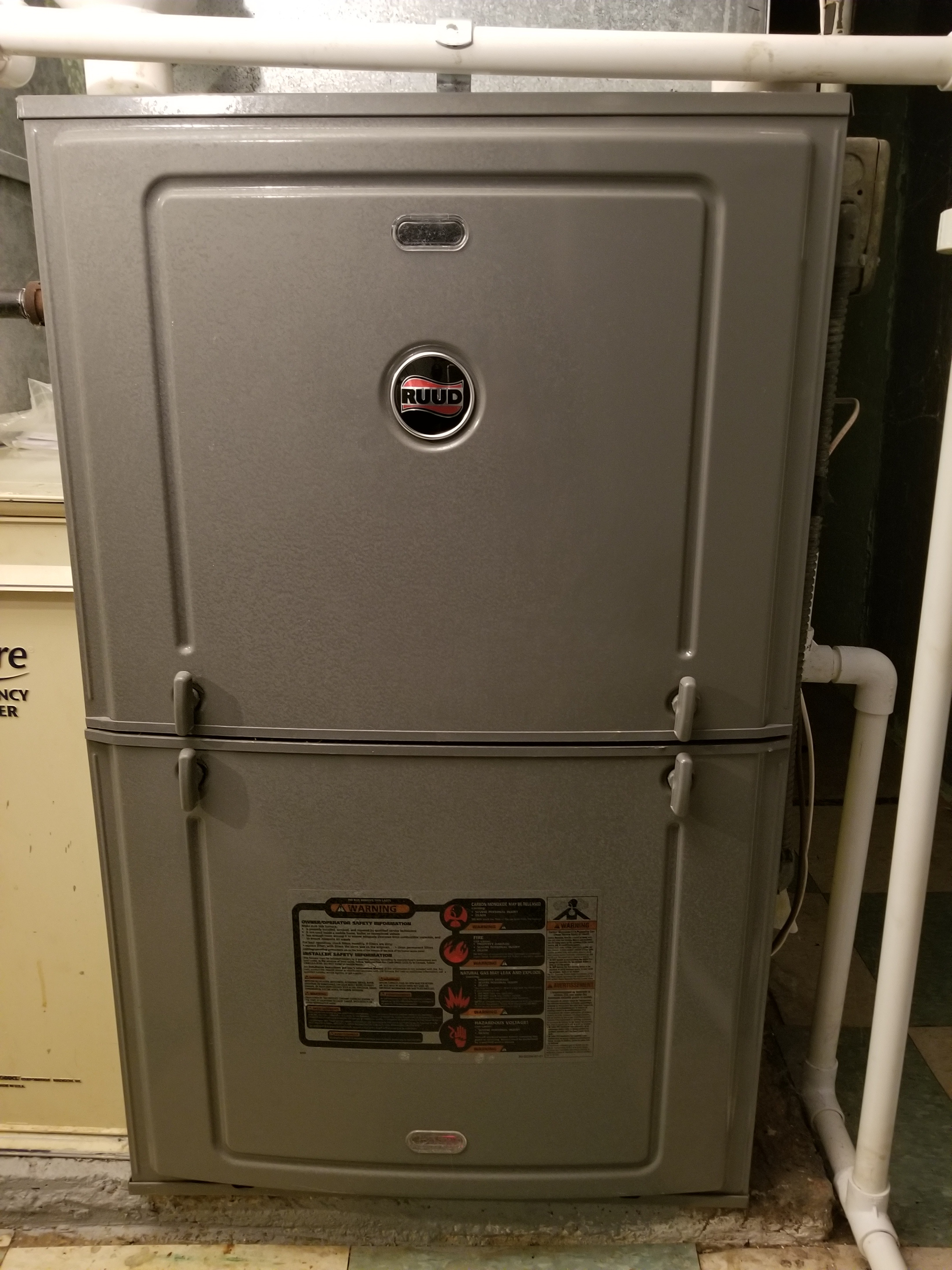 Repaired the Rheem furnace and made adjustments to improve the overall efficiency and life expectancy of the equipment