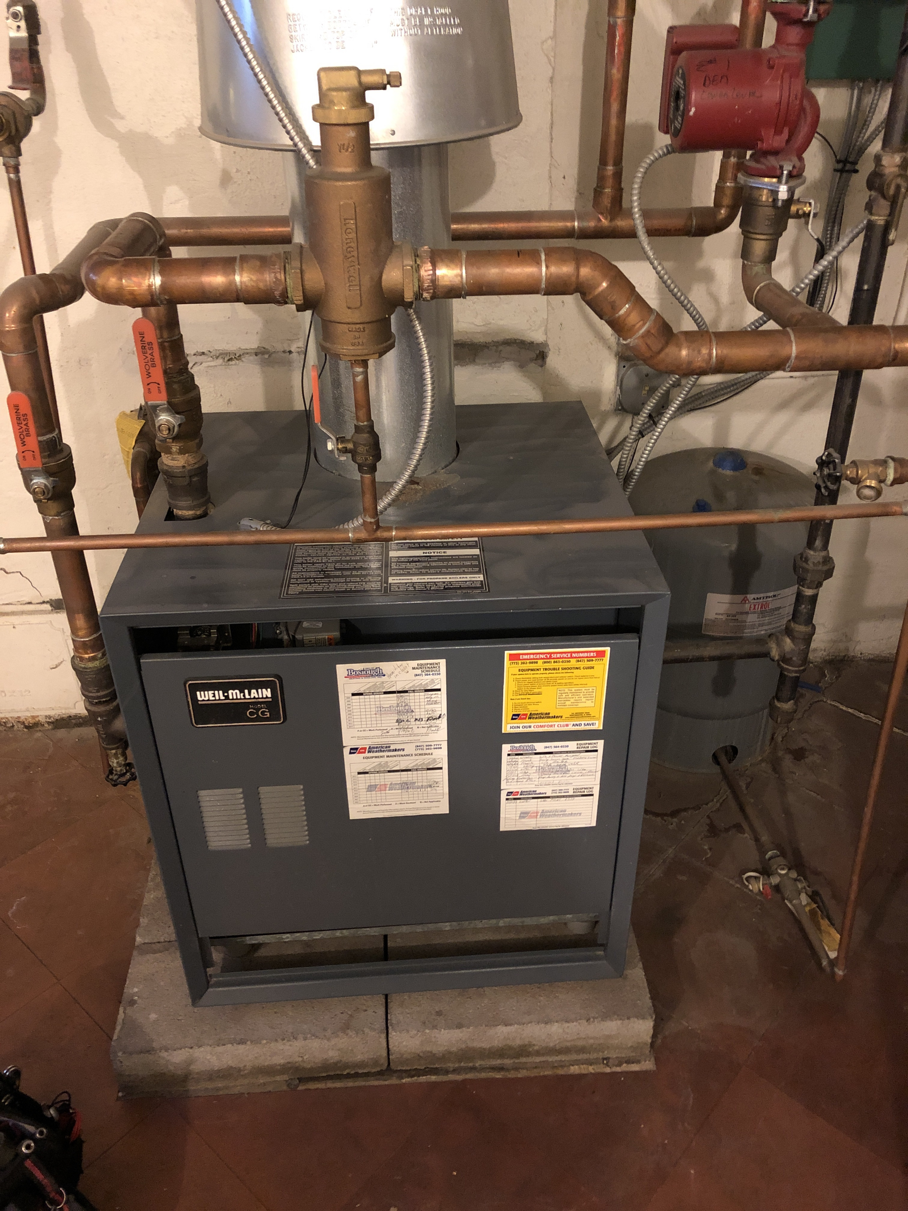 Boiler and furnace winter service and maintenance.