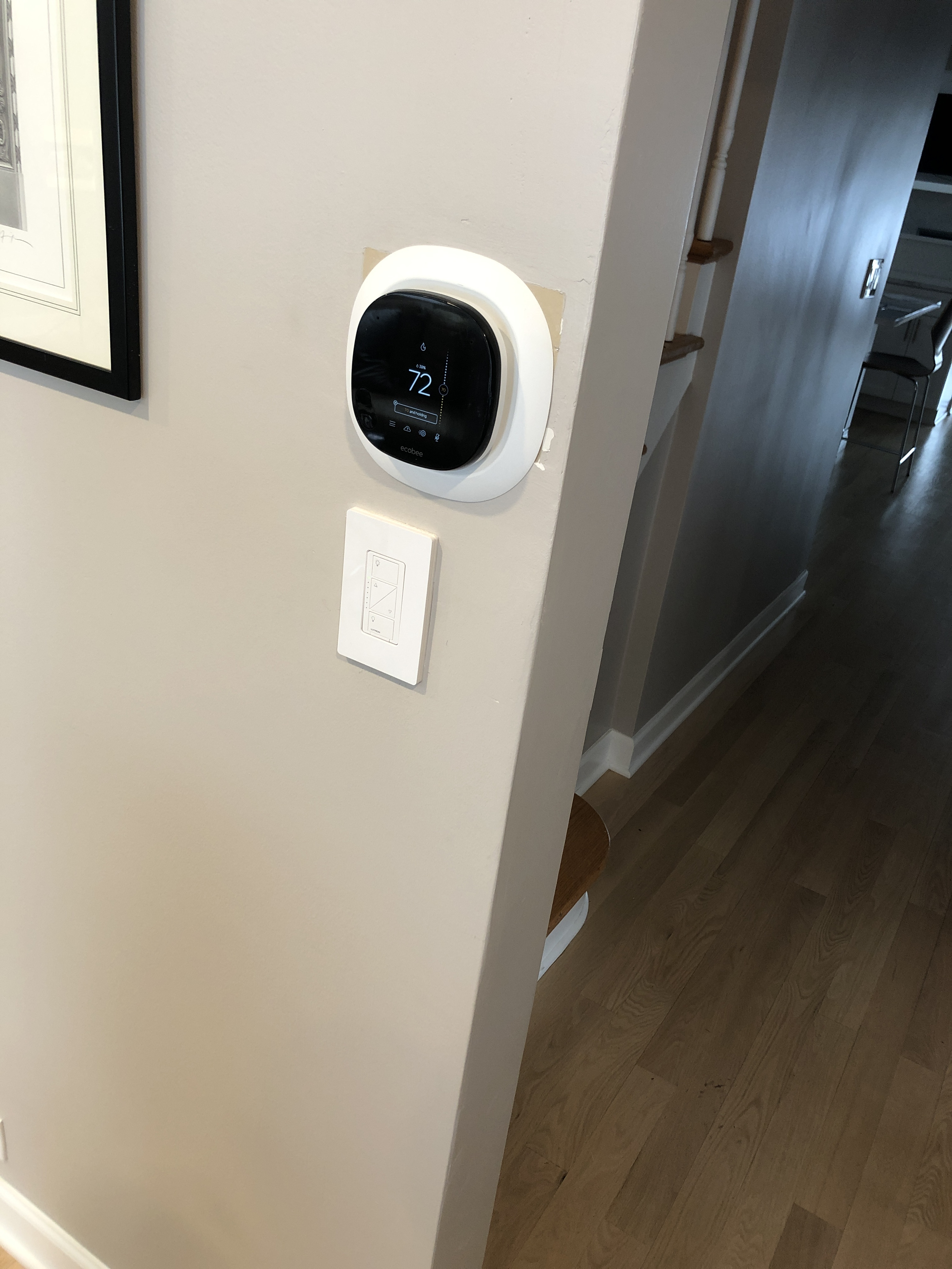 Arrived on call to install customer eco-bee thermostat. Disconnected old thermostat and reworded new stat. Had customer program and cycled with furnace to ensure everything is functioning normally.