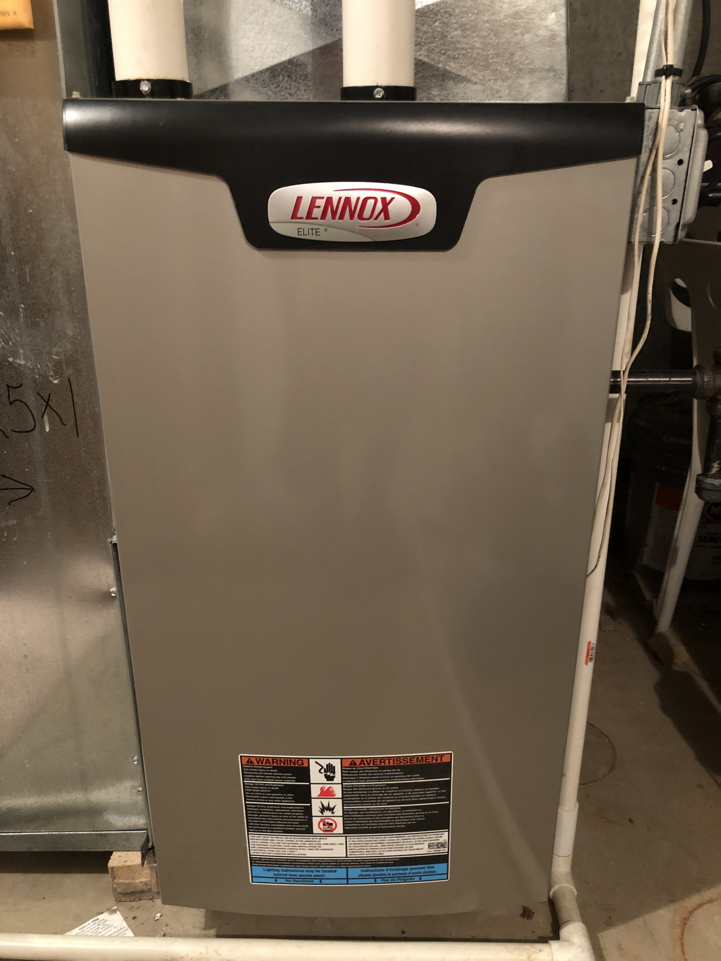 Furnace maintenance on a Lennox high efficiency furnace.