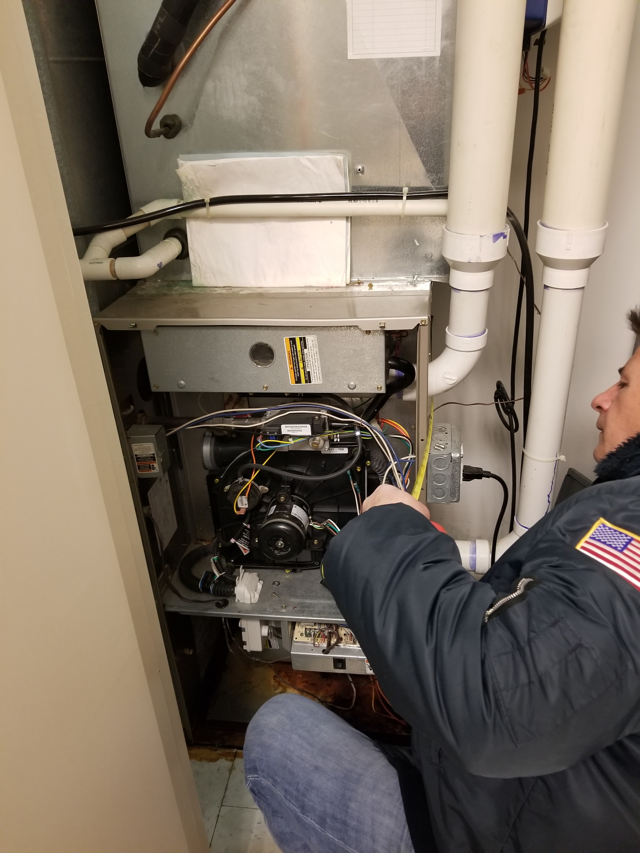 Repaired the Carrier furnace and made adjustments to improve the overall efficiency and life expectancy of the equipment