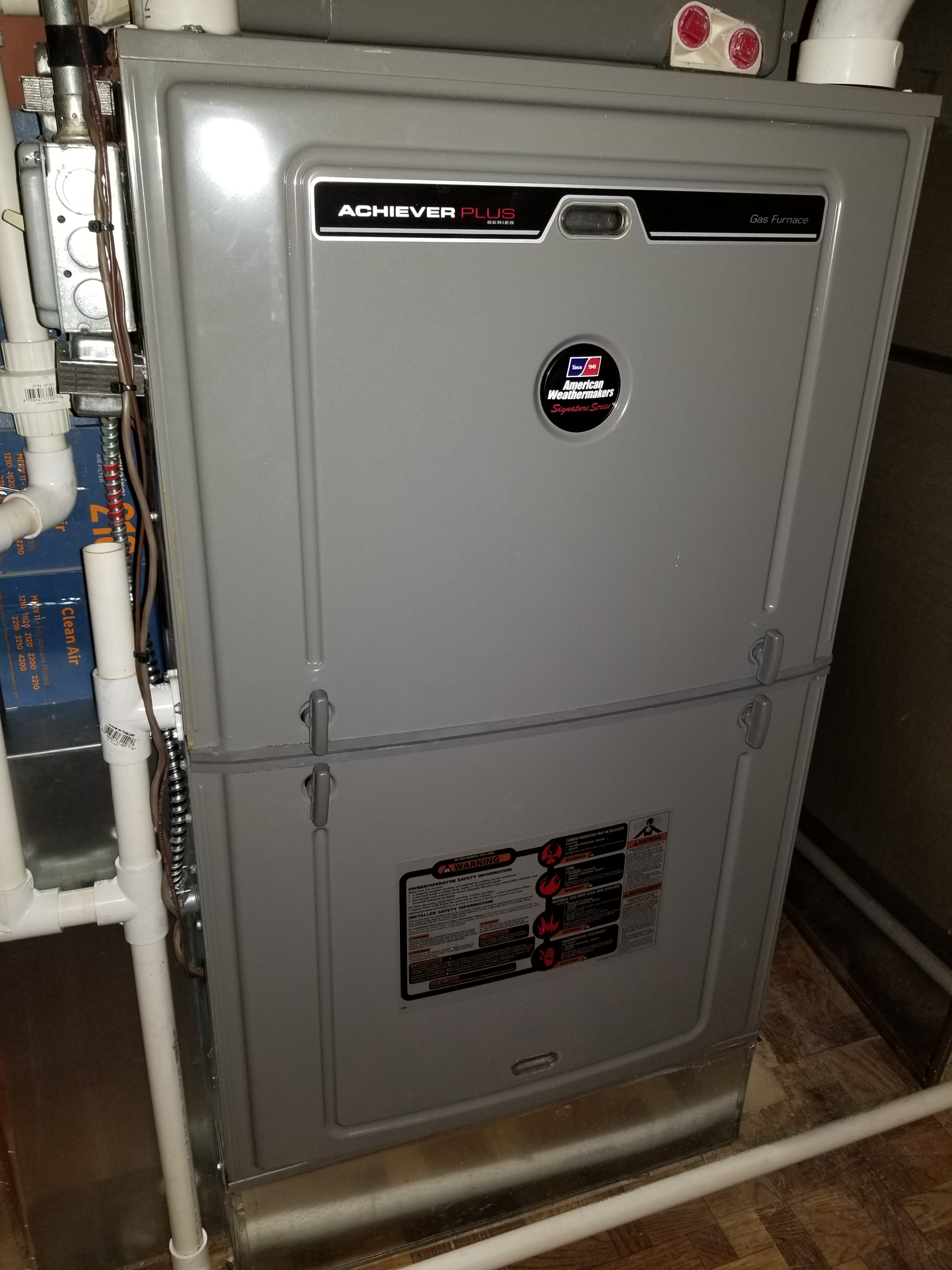 Repaired the Rheem furnace noise and made adjustments to improve the overall efficiency and life expectancy of the equipment