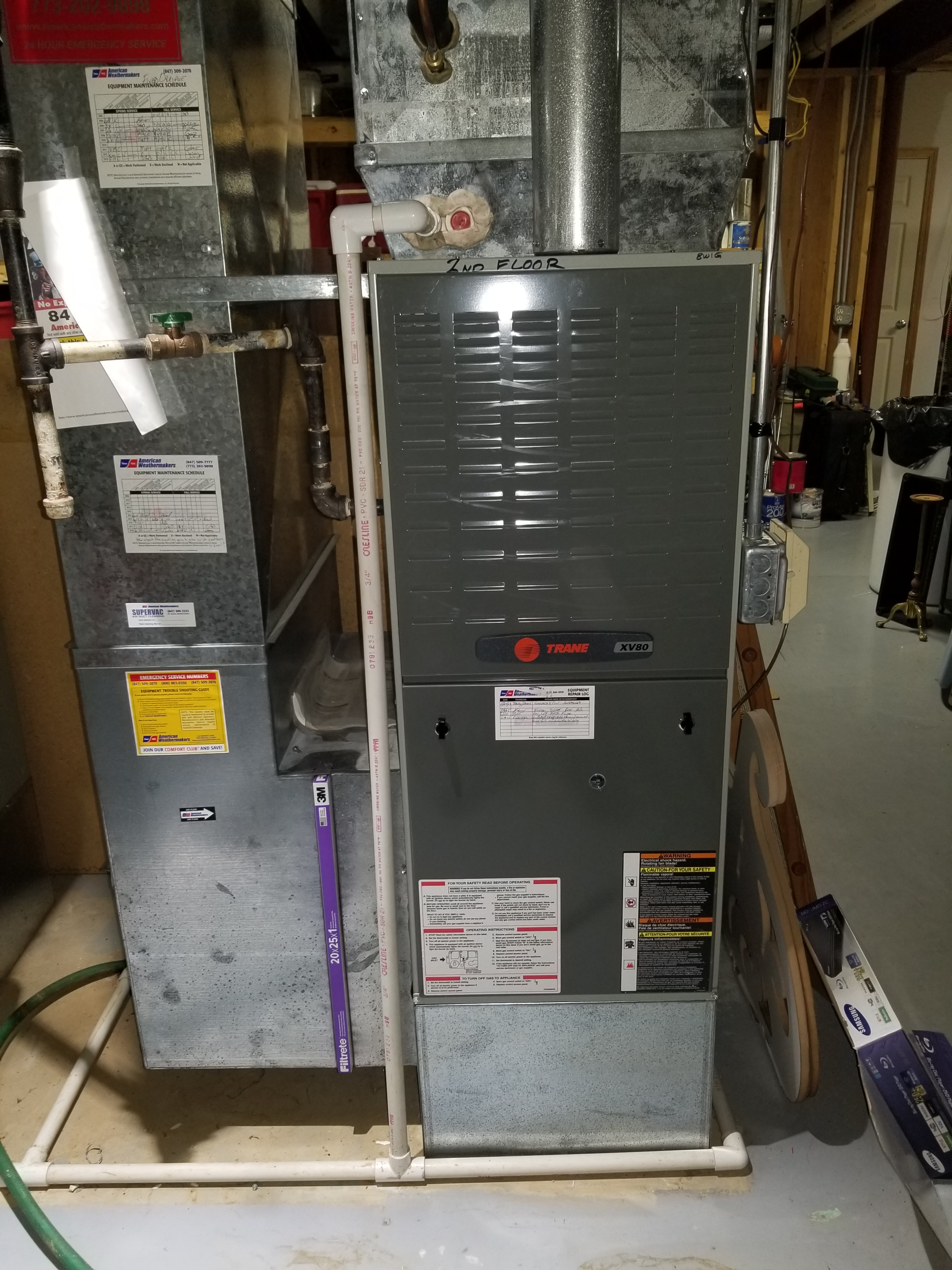 Repaired the Trane furnace and made adjustments to improve the overall efficiency and life expectancy of the equipment