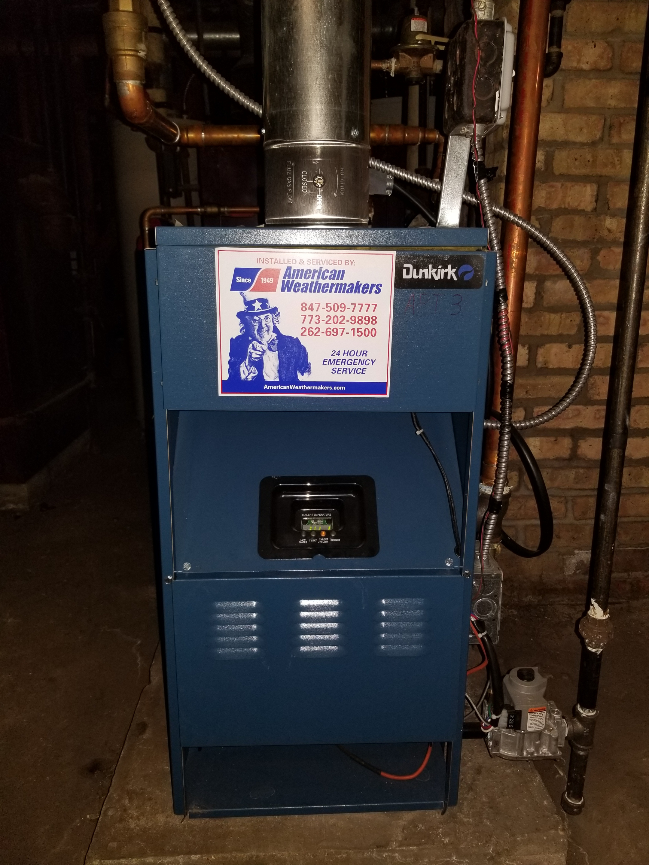 Repaired the Dunkirk qfurnace and made adjustments to improve the overall efficiency and life expectancy of the equipment