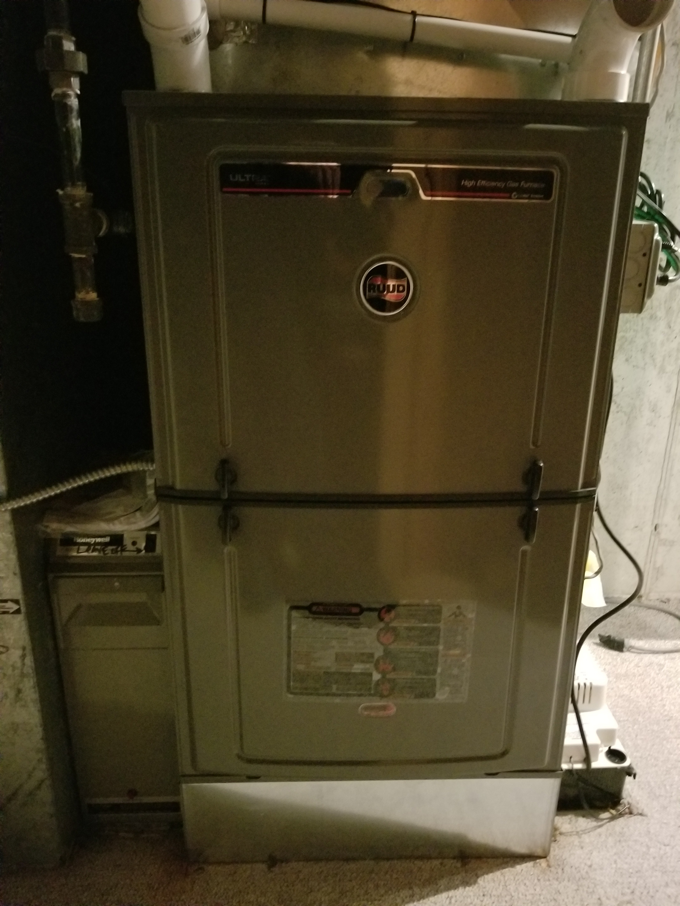 Repaired the Ruud furnace and made adjustments to improve the overall efficiency and life expectancy of the equipment
