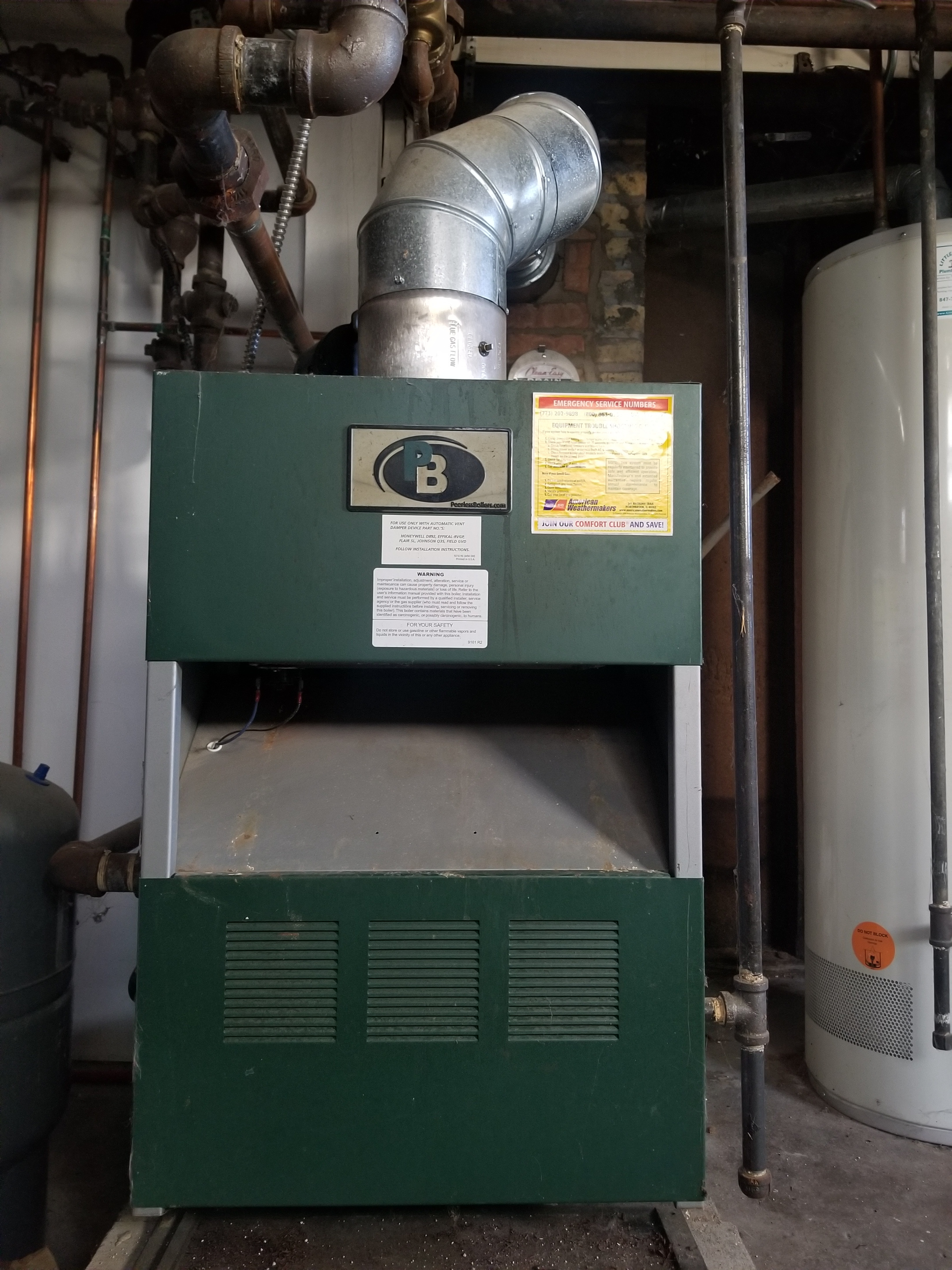 Repaired the Peerless boiler and made adjustments to improve the overall efficiency and life expectancy of the equipment
