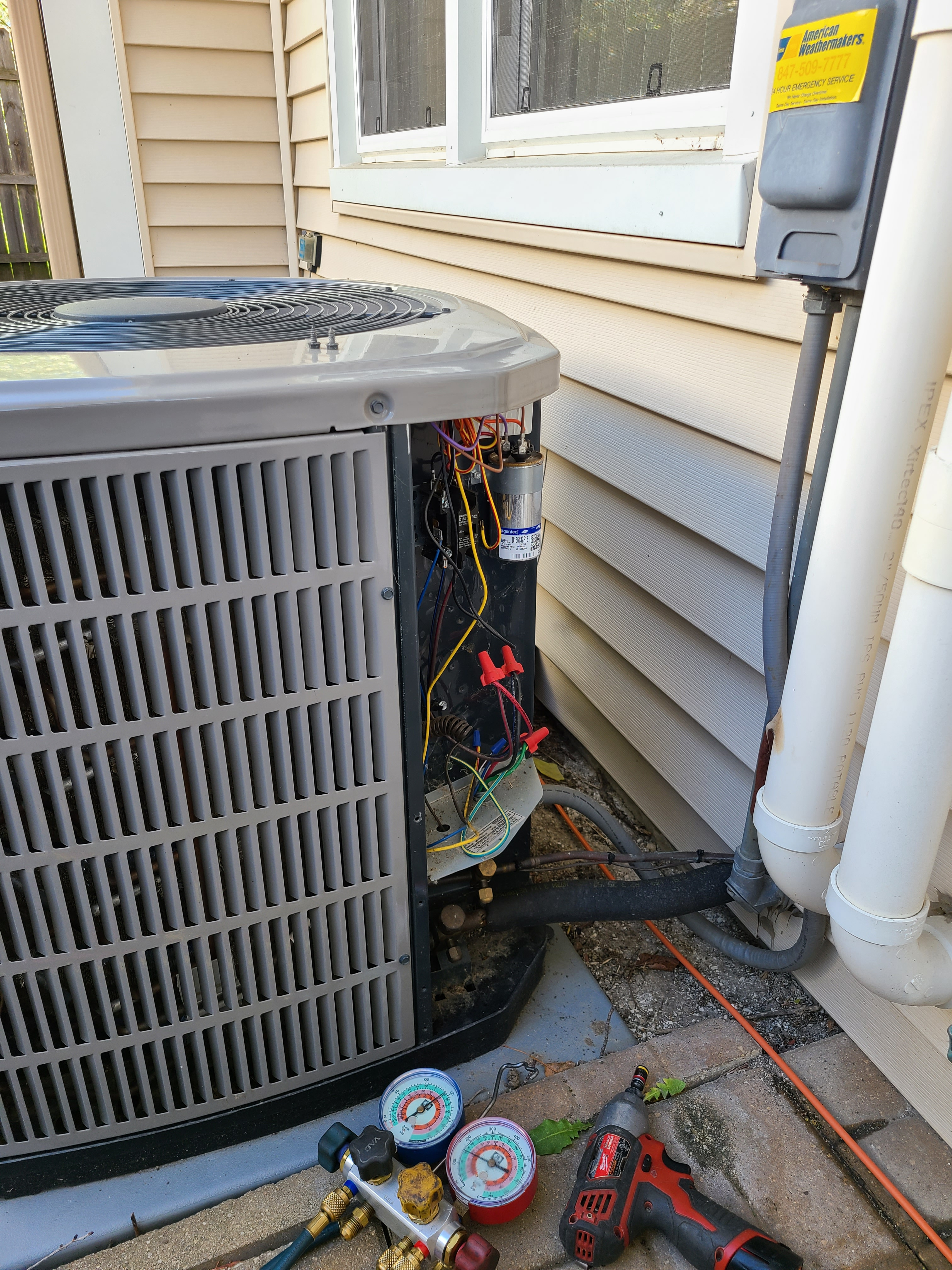 American Standard air conditioning system cleaned and checked, ready for spring.