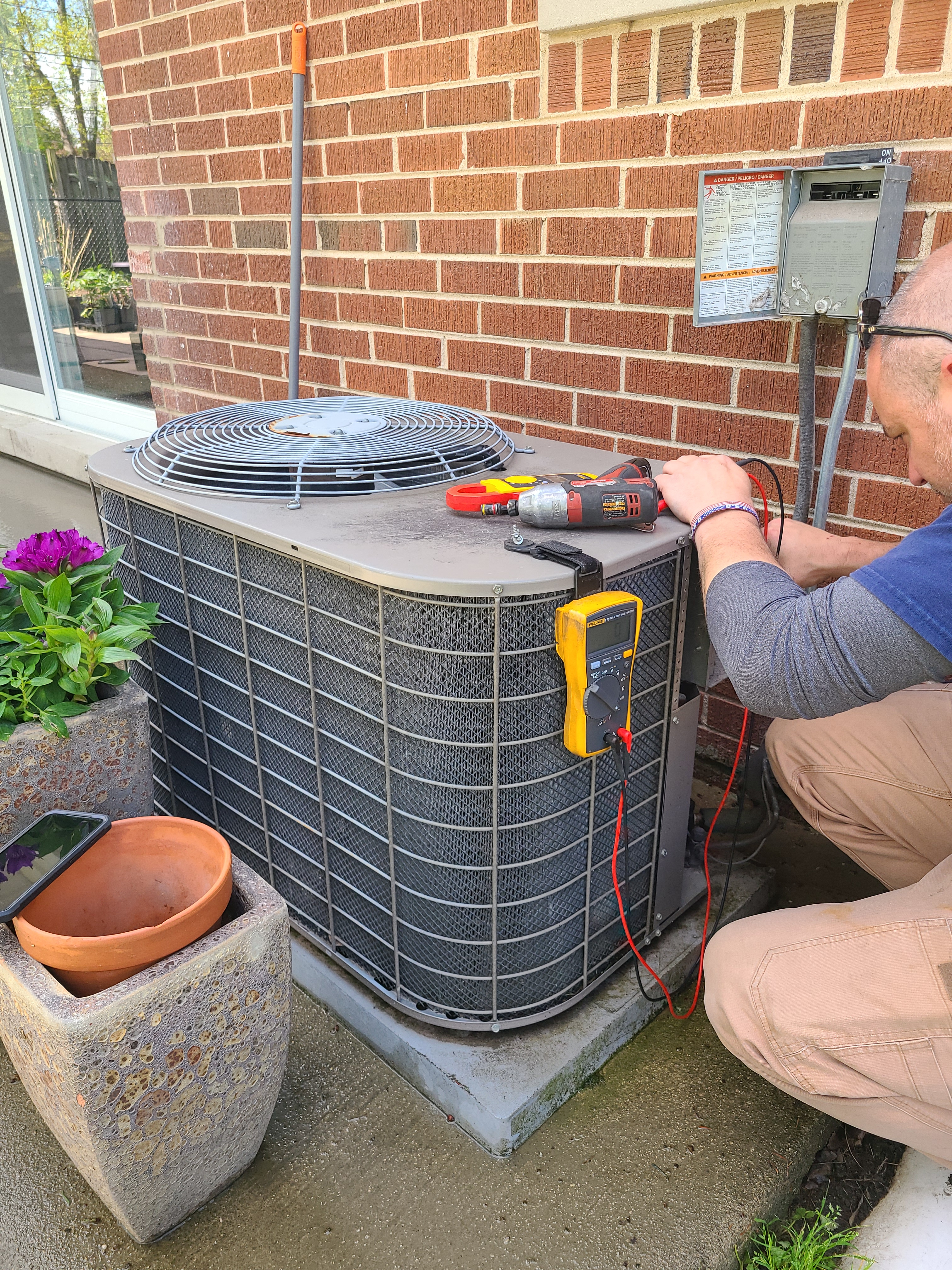 York air conditioning system cleaned and checked, ready for spring.