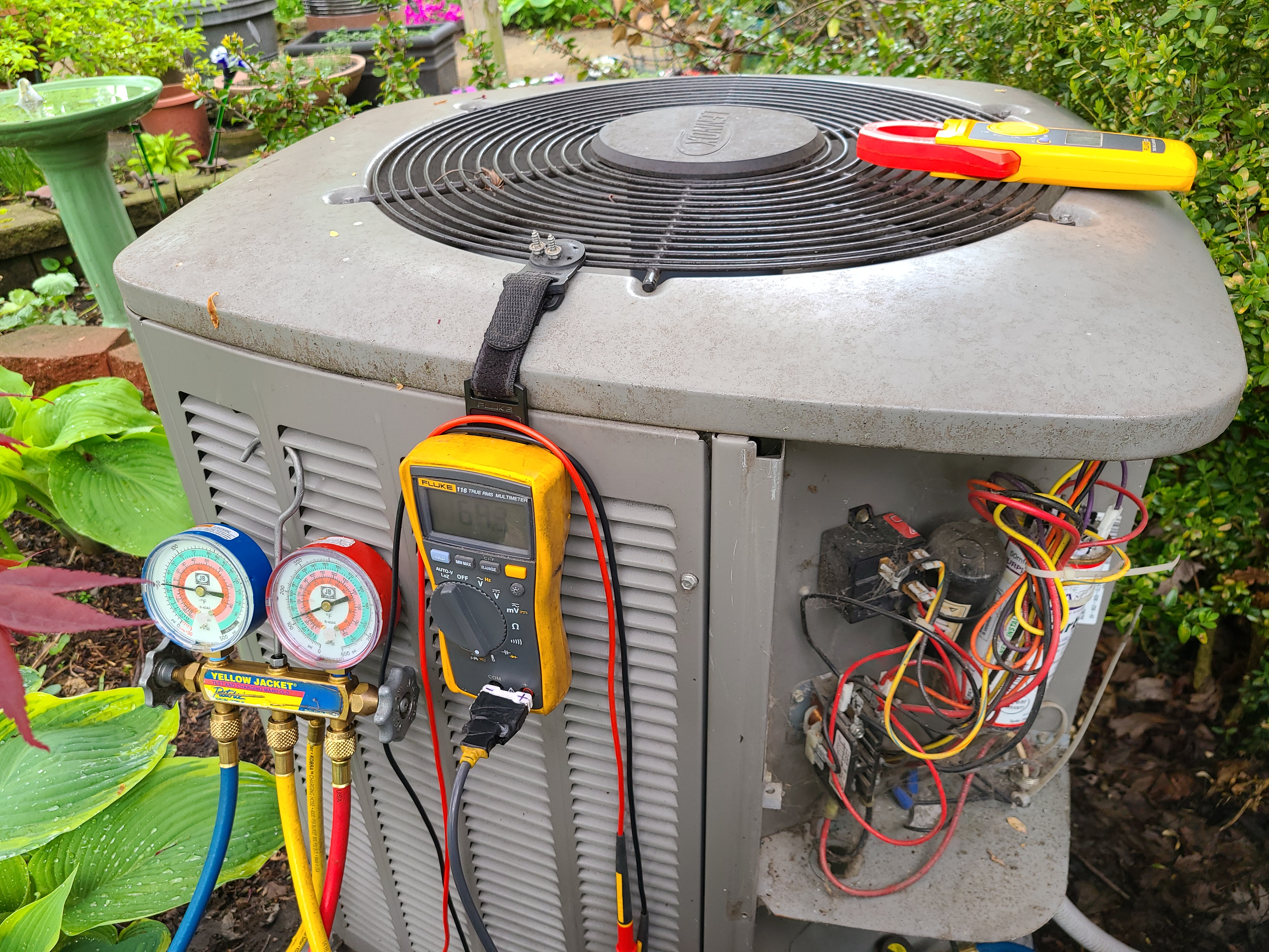 Lennox air conditioning system cleaned and checked, ready for spring.