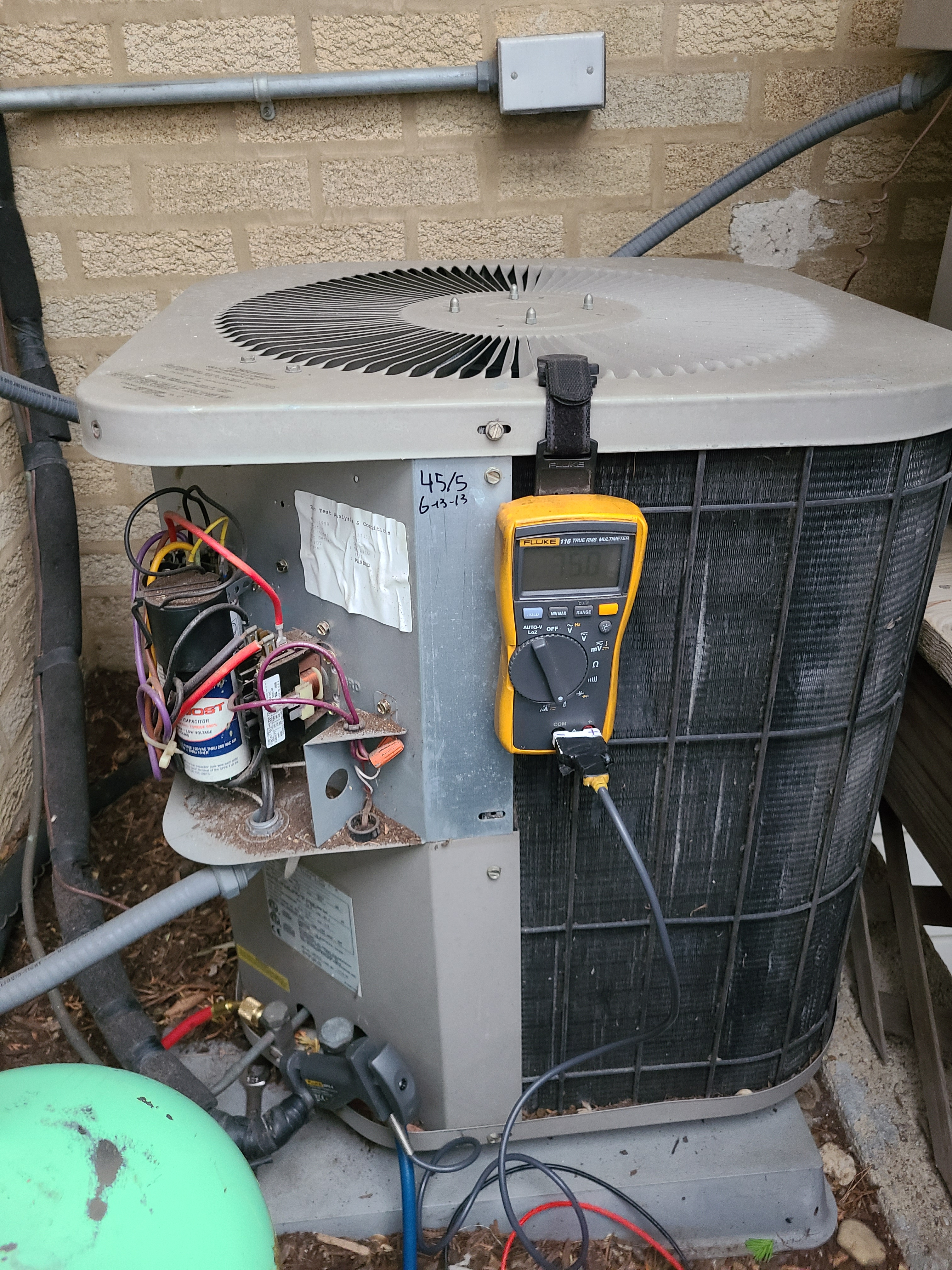 Goodman ac sytem recharged and repairs performed.