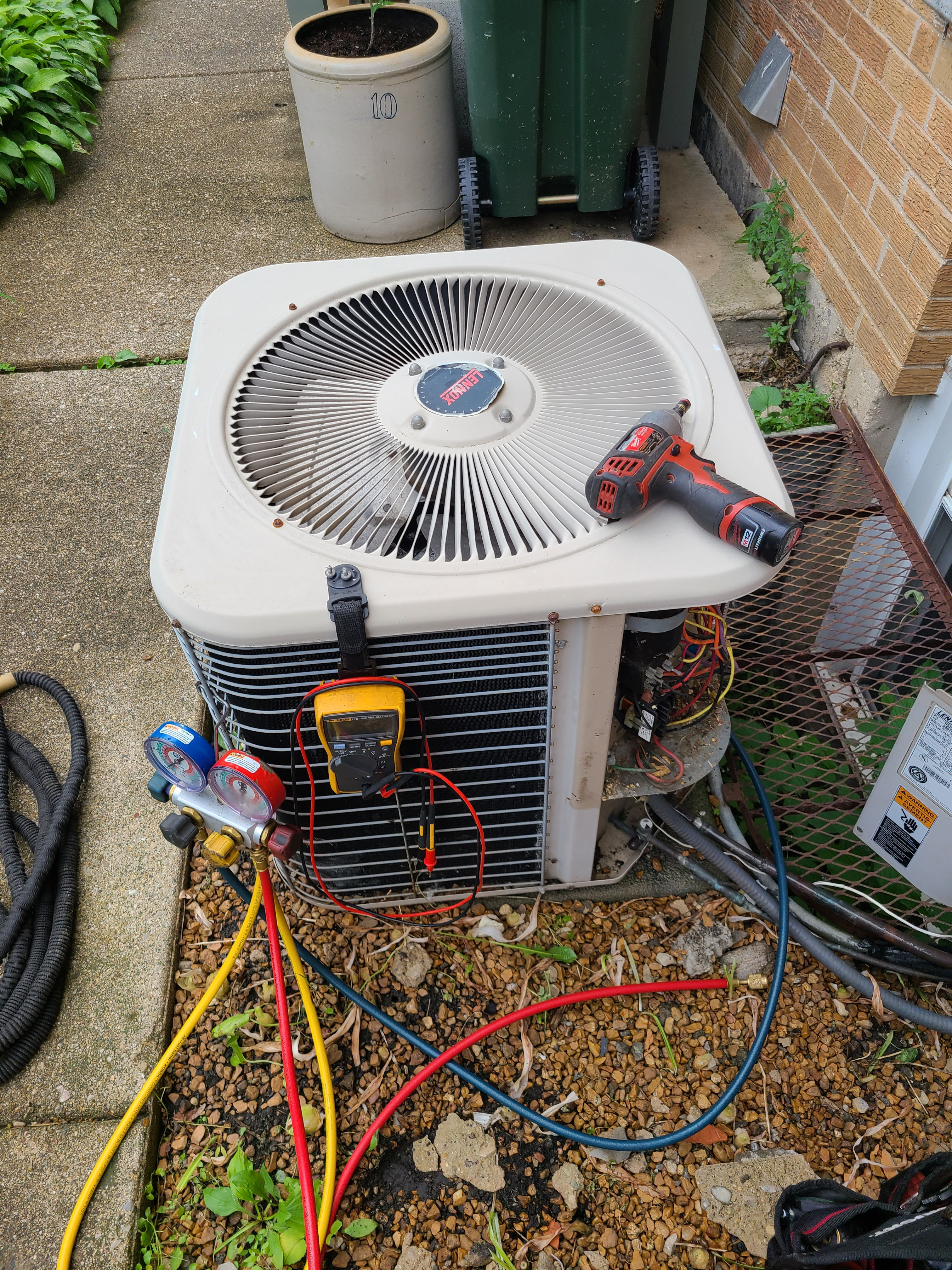 Lennox air conditioning system cleaned and checked. Ready for summer!