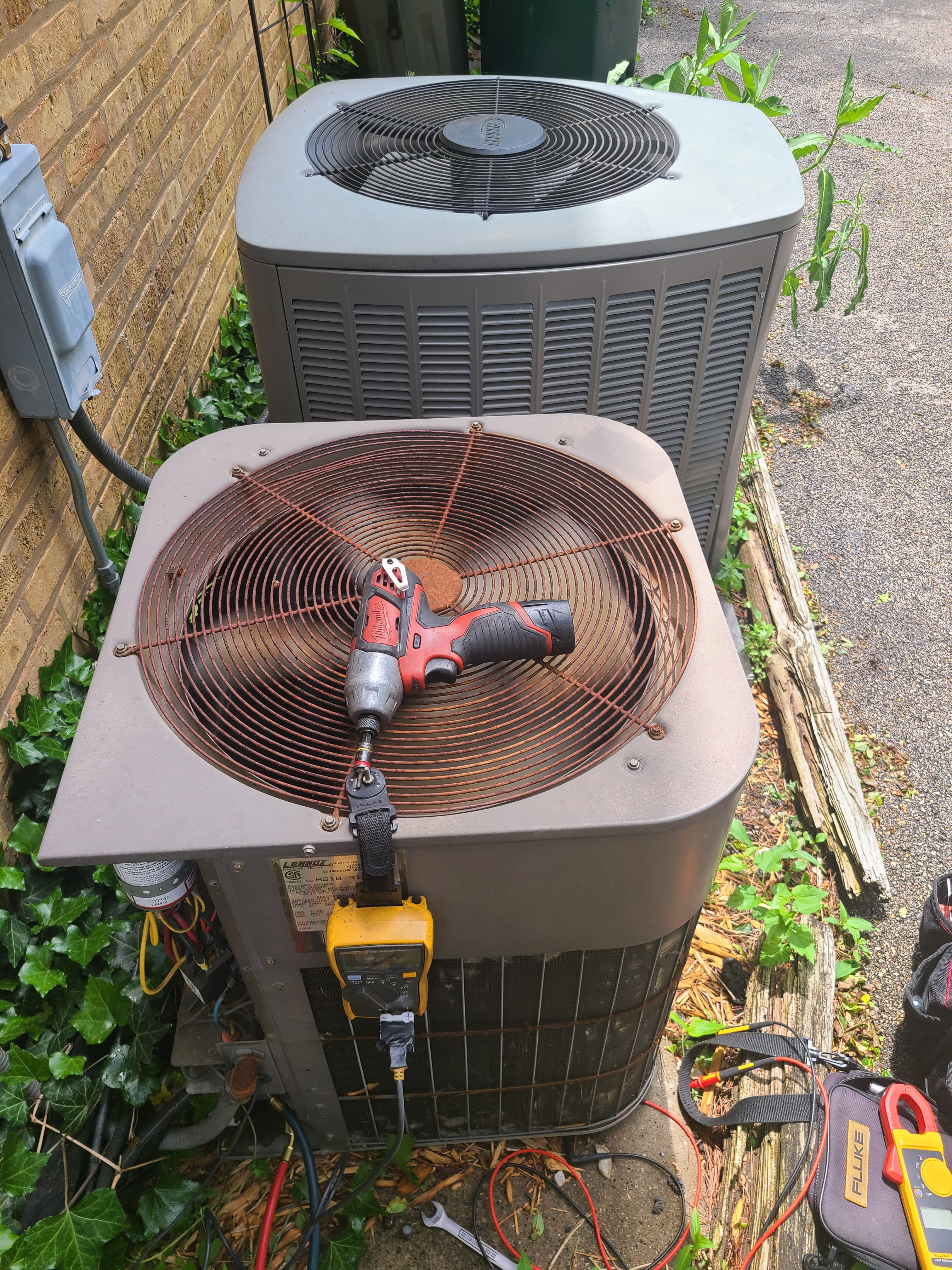 2 Lennox air conditioning system cleaned and checked. Ready for summer!