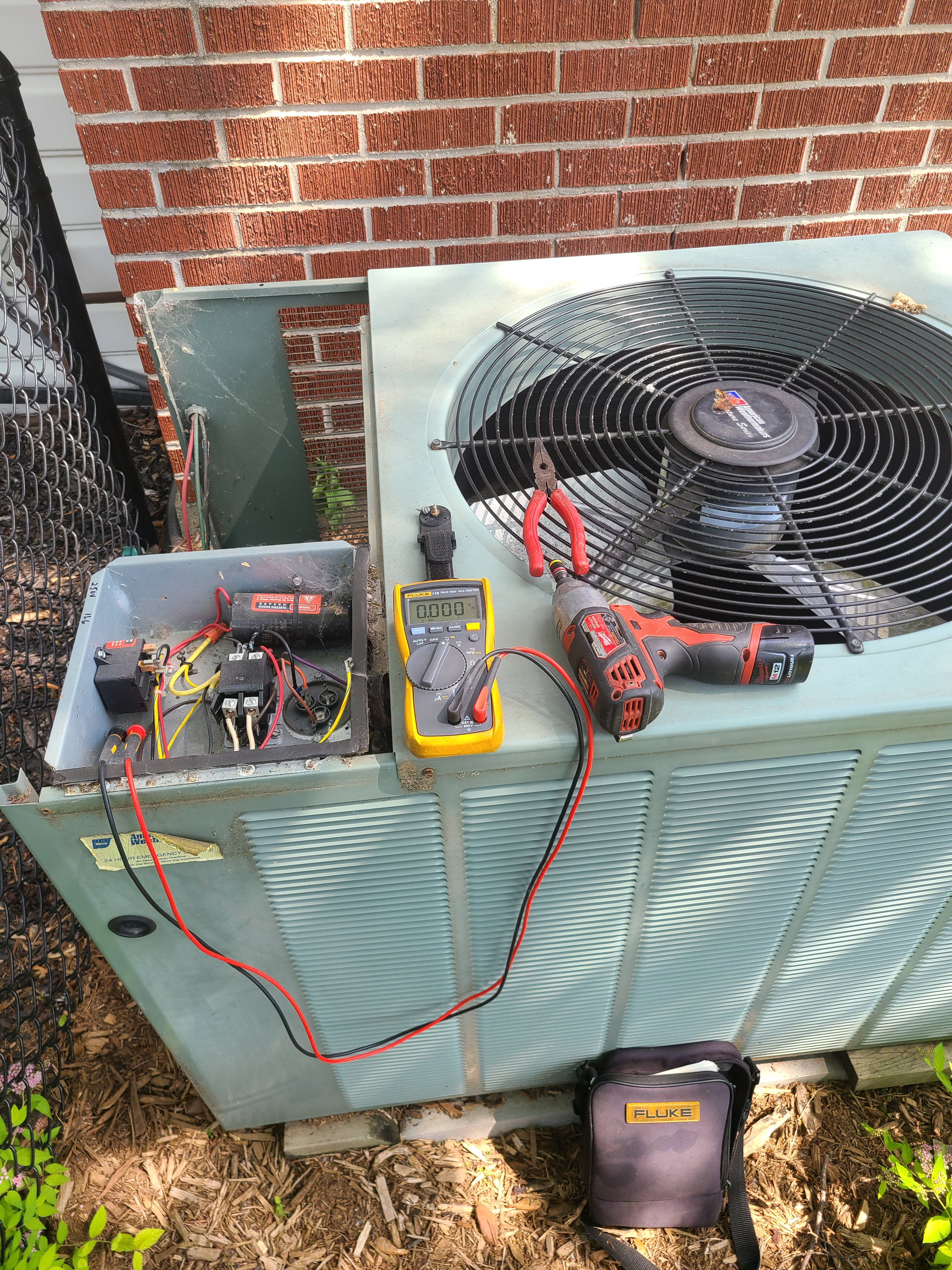 Rheem air conditioning system cleaned and checked. Ready for summer!