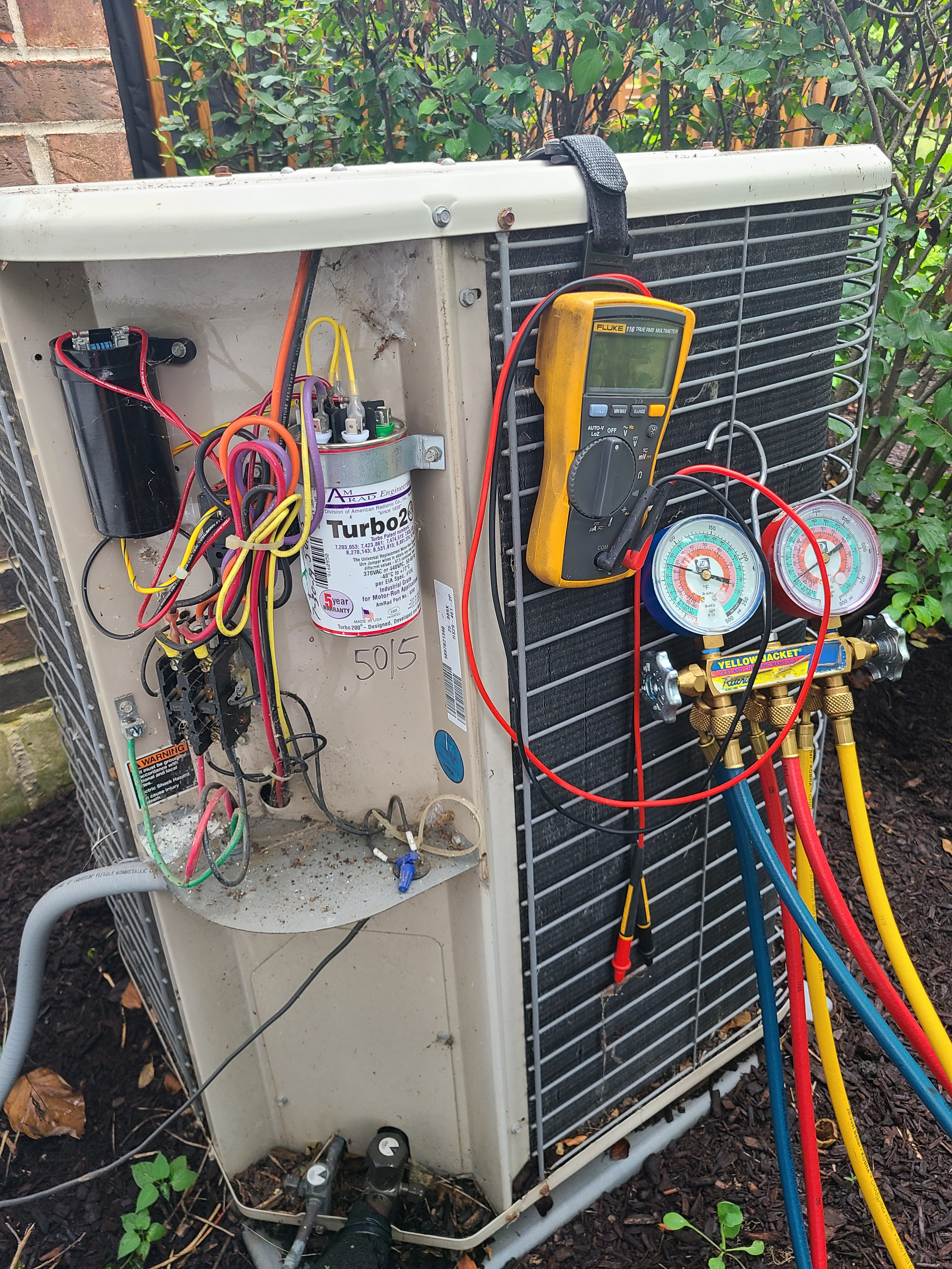 Lennox air conditioning system cleaned and checked. Ready for summer.