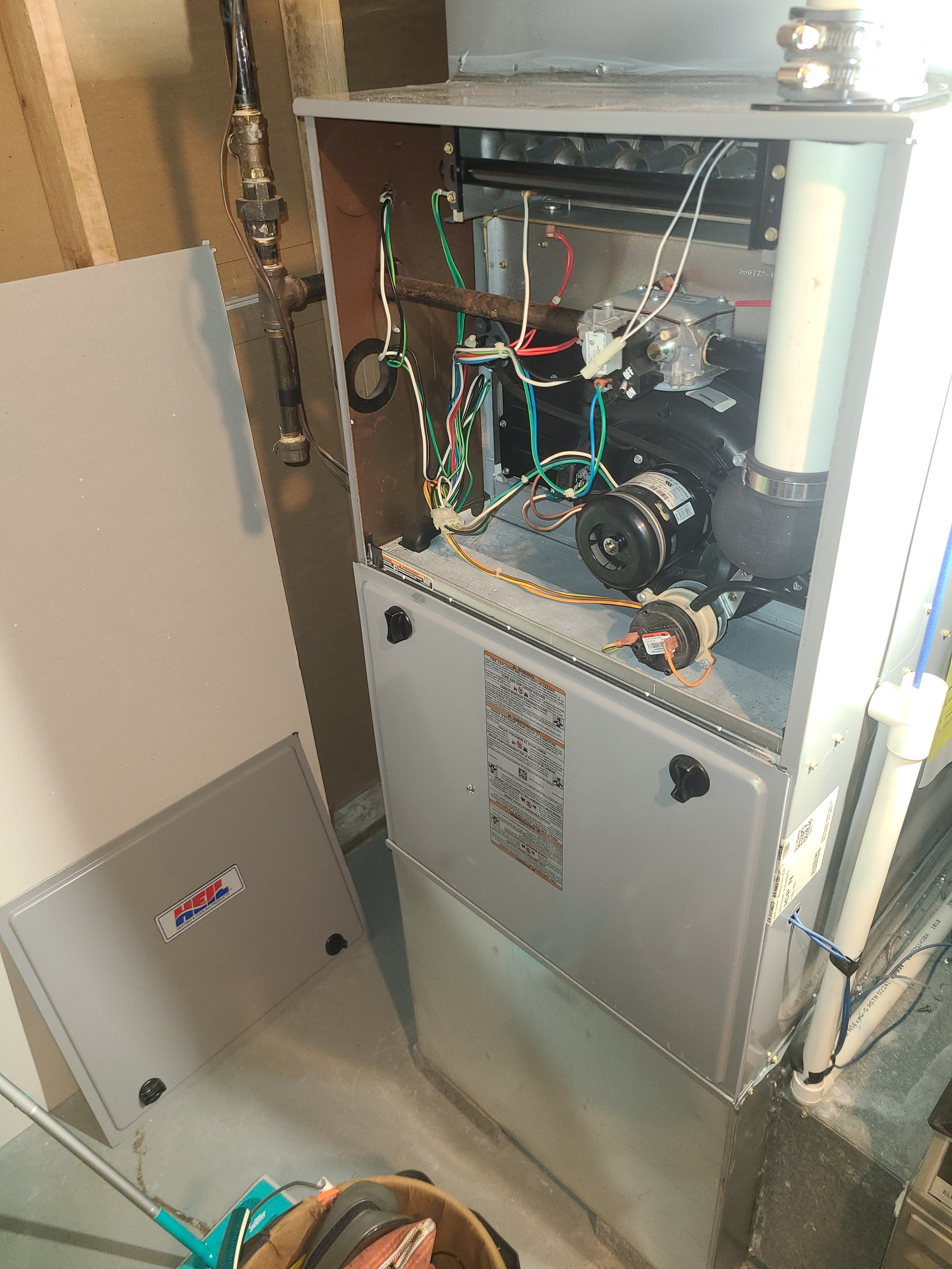 Gas furnace repair replacing a gas valve