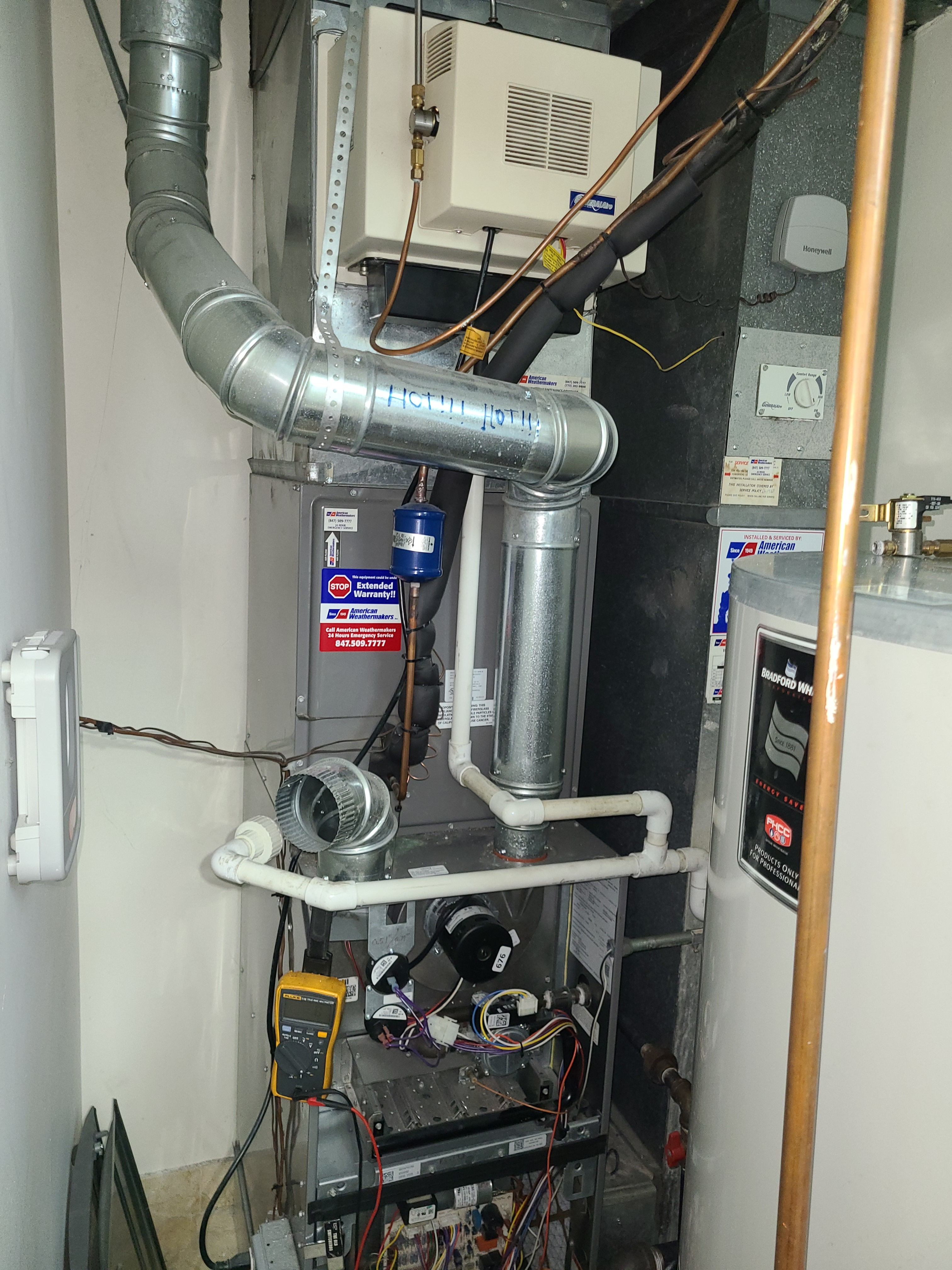 Ruud furnace,  general air humidifier fall service. System cleaned and checked and ready for winter.