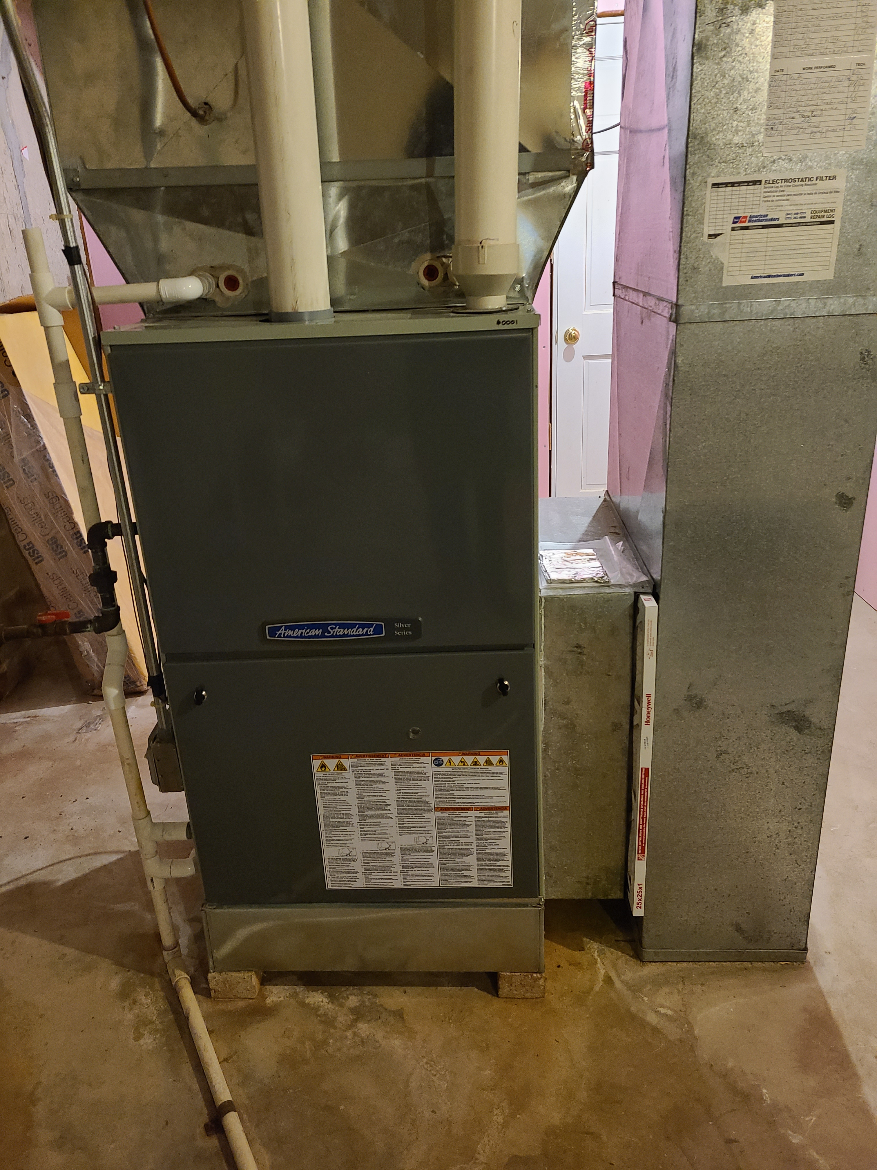 Performed annual maintenance on the American Standard furnace and Aprilaire humidifier  Made adjustments to improve the efficiency and life expectancy of the equipment.