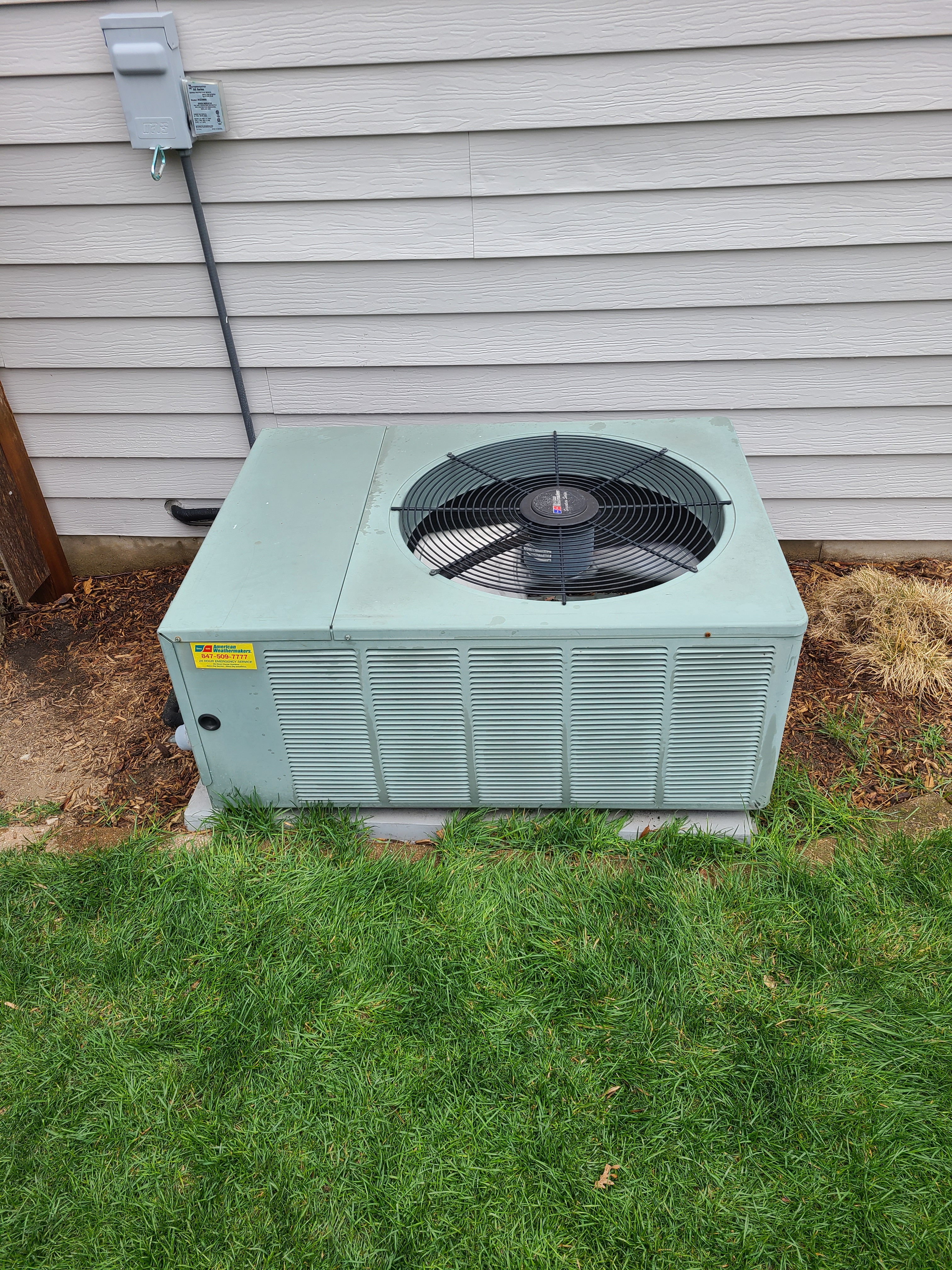 Performed routine maintenance on a RHEEM unit. Checked temperatures, pressures, volts, amperage, and microfarats. Washed condenser coil.