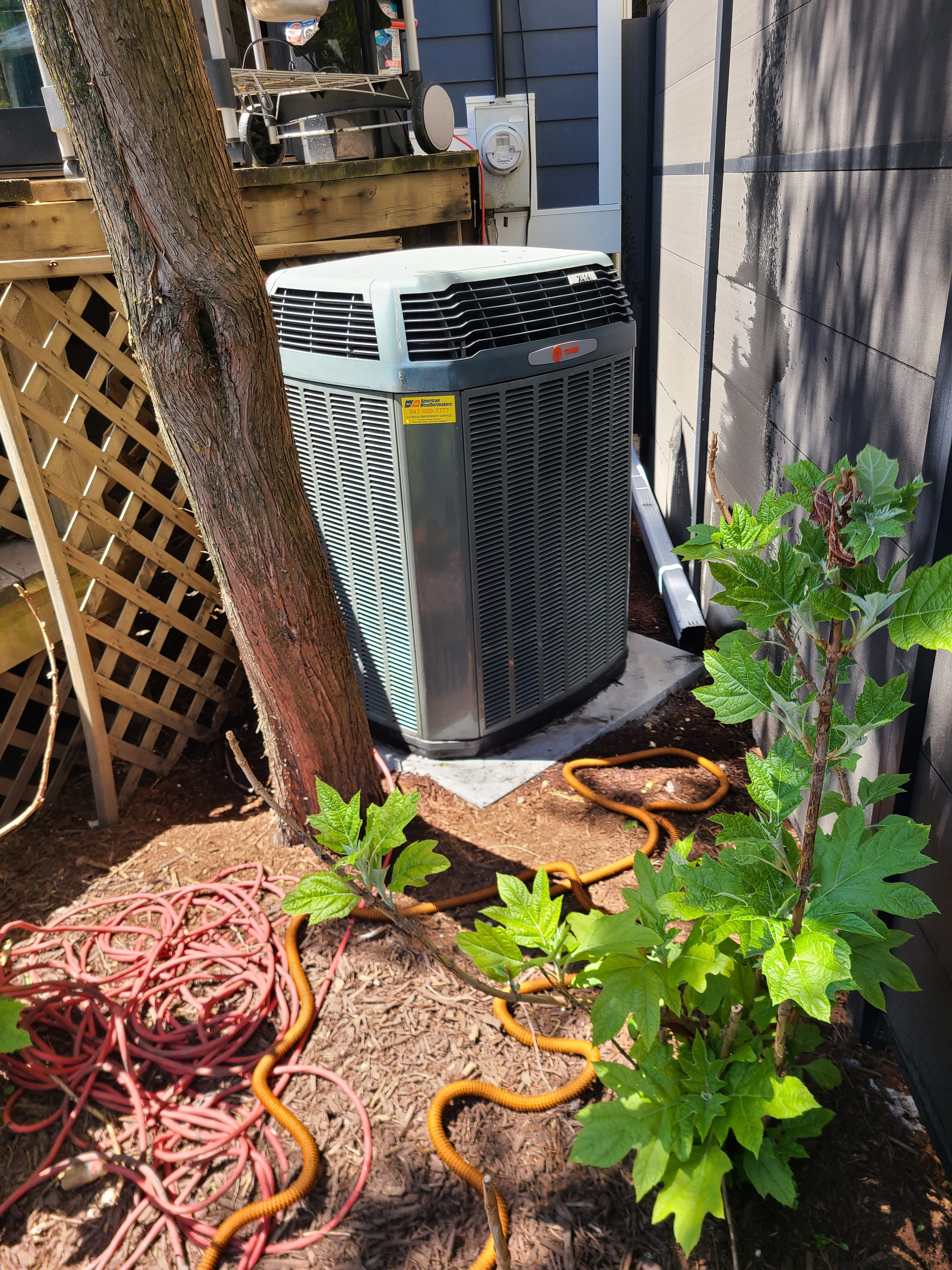 Trane 410a system Ready for spring/ summer operation