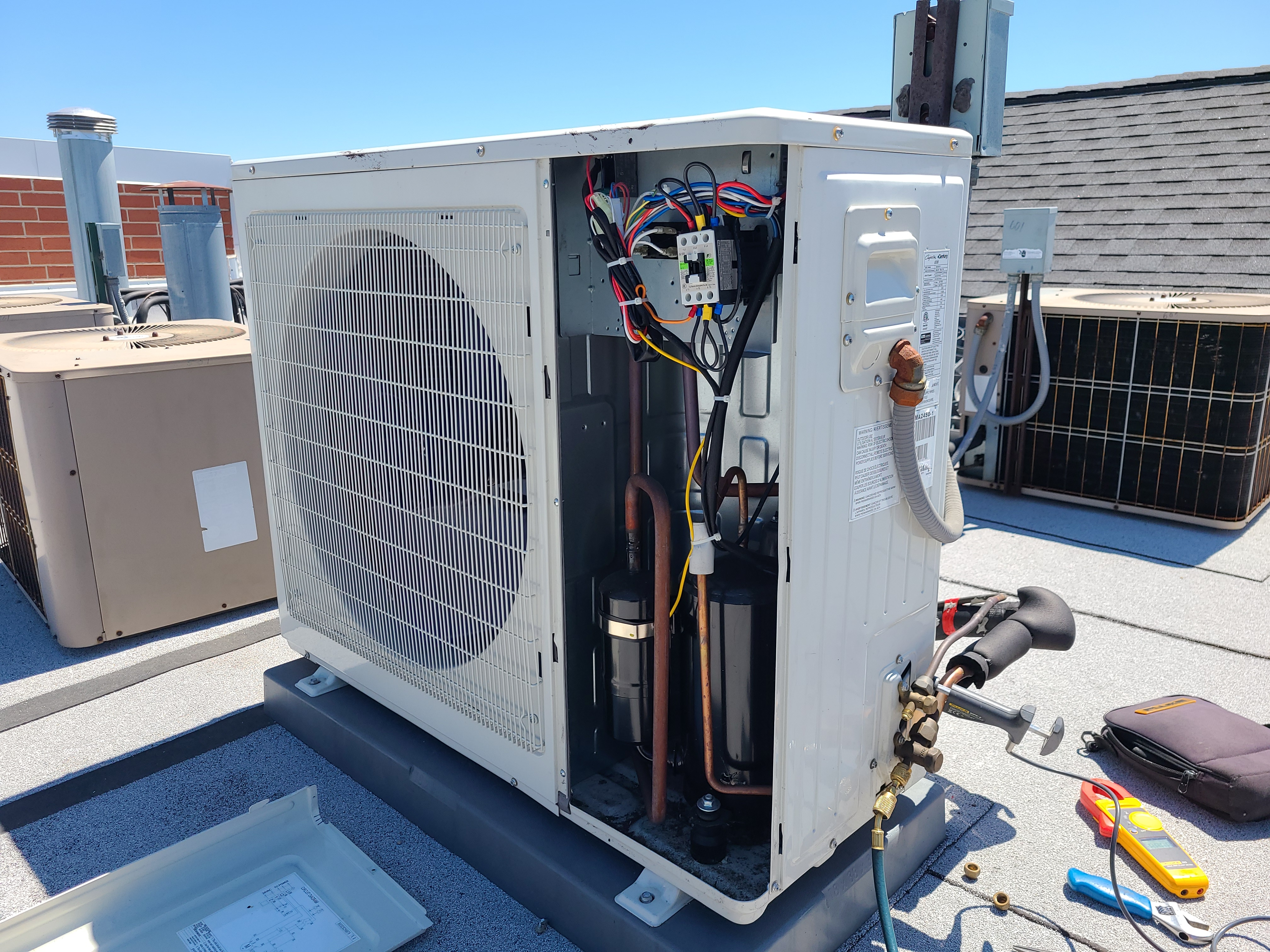 Comfort-aire ac spring tune up. System cleaned and checked and ready for summer.